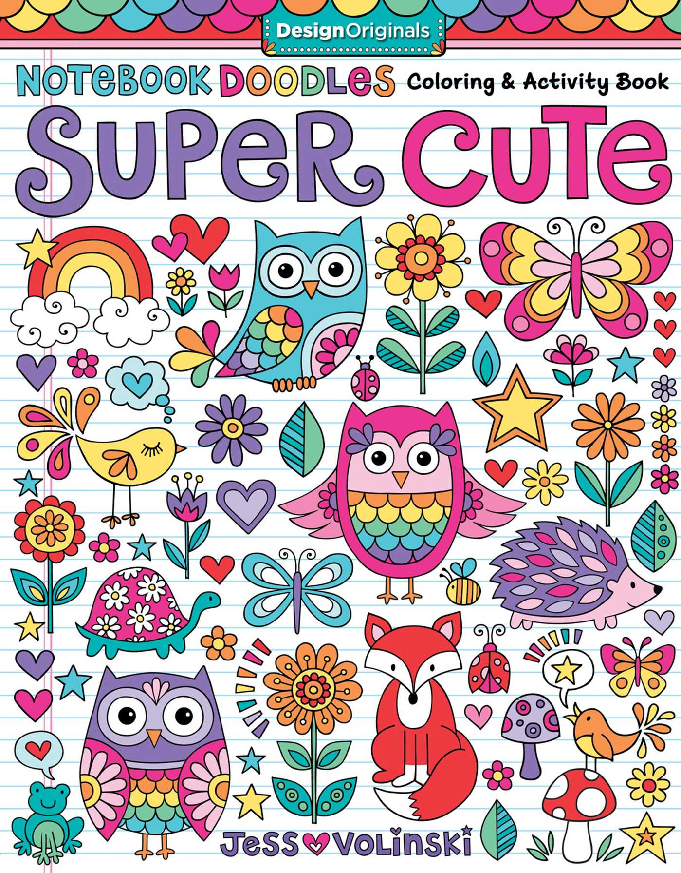 Notebook doodles super cute book by jess volinski for Notebook with colored pages