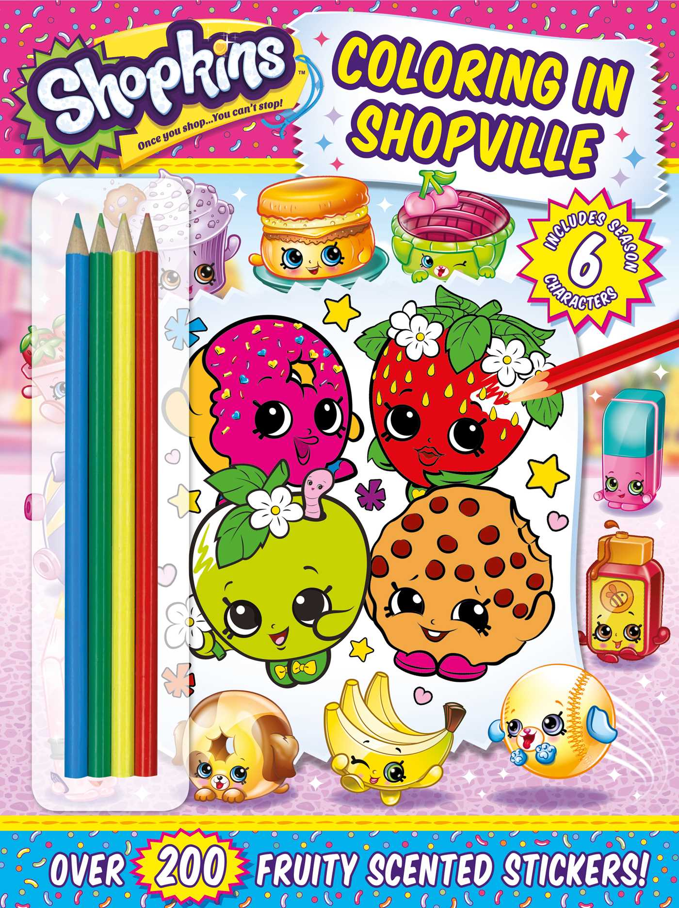 Shopkins coloring in shopville 9781499804973 hr
