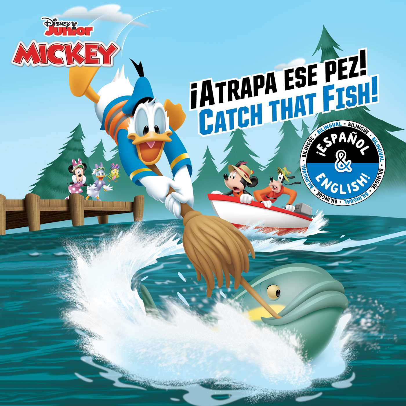 Catch that fish atrapa ese pez english spanish disney junior mickey and the roadster 9781499807974 hr