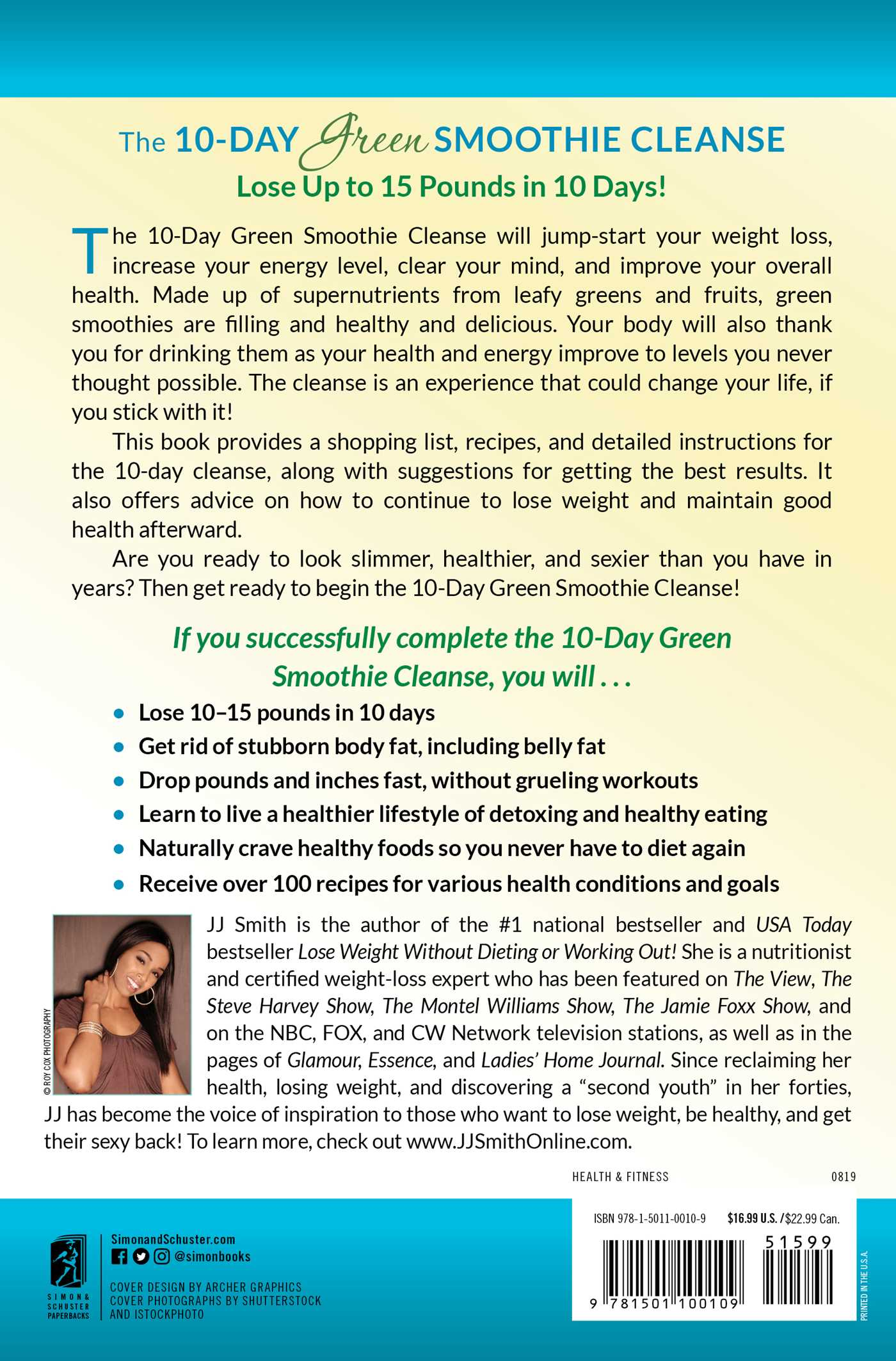 ... 10 day green smoothie cleanse 9781501100109 hr back