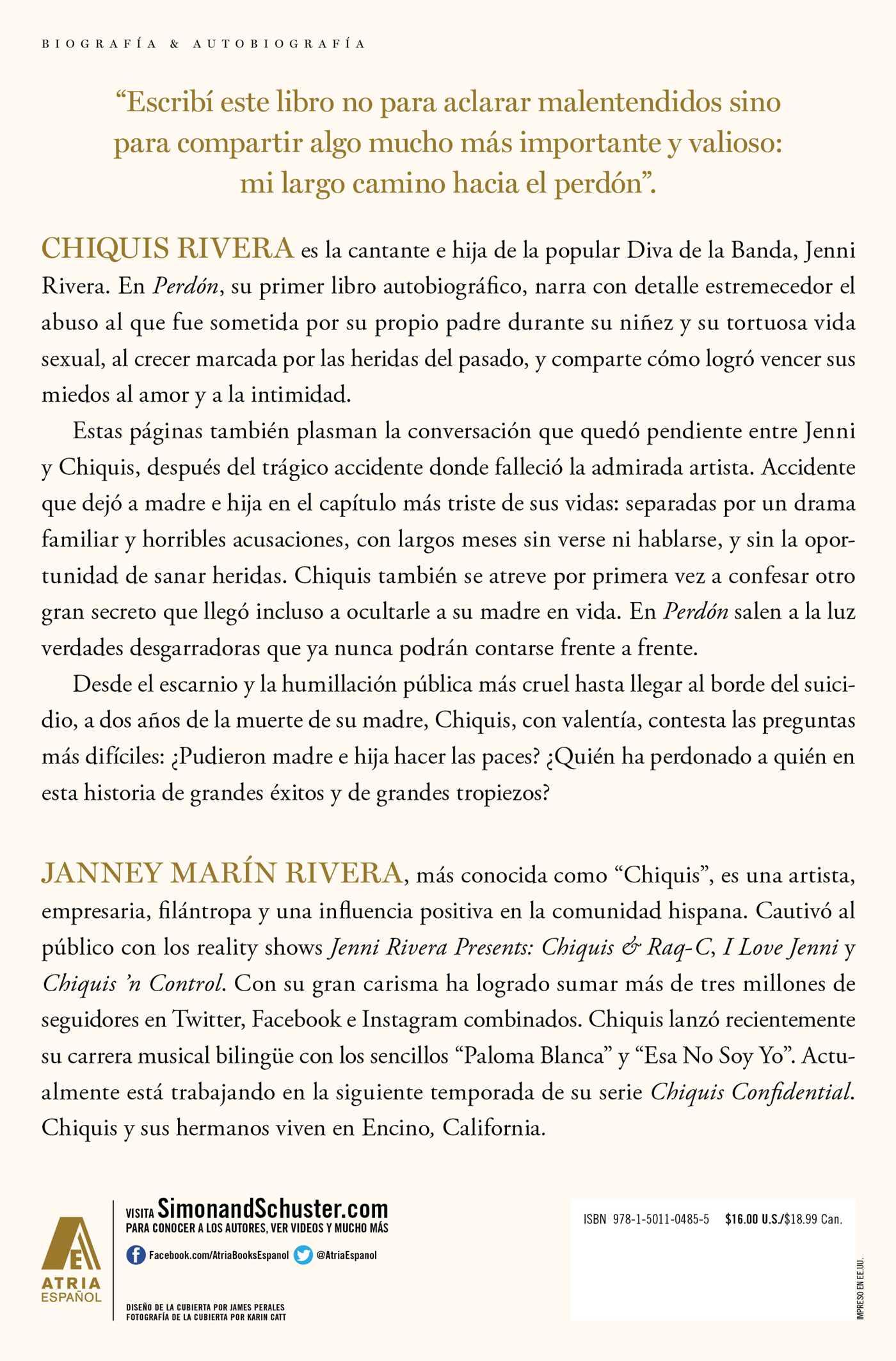 Perdon Forgiveness Spanish Edition Book By Chiquis Rivera