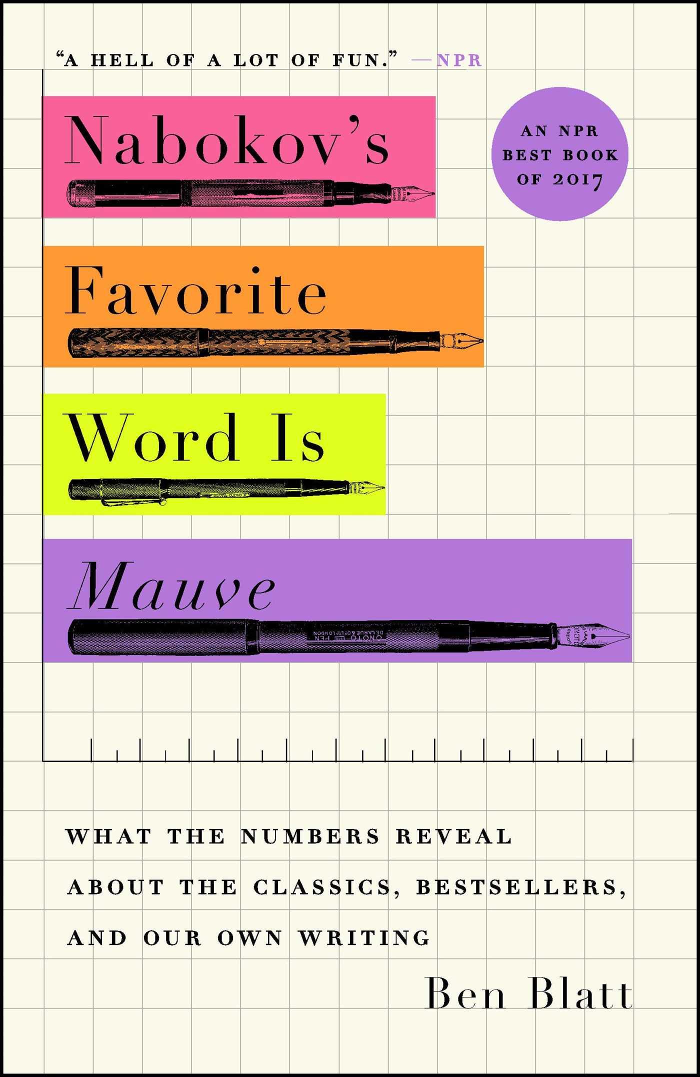 Nabokovs Favorite Word Is Mauve Book By Ben Blatt Official