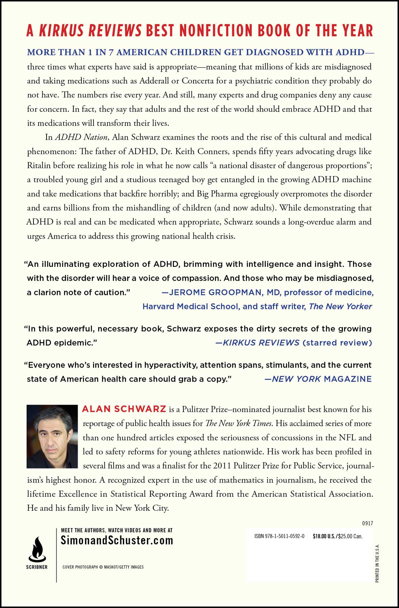 Keith Conners Father Of Adhd Regrets >> Adhd Nation Book By Alan Schwarz Official Publisher Page Simon