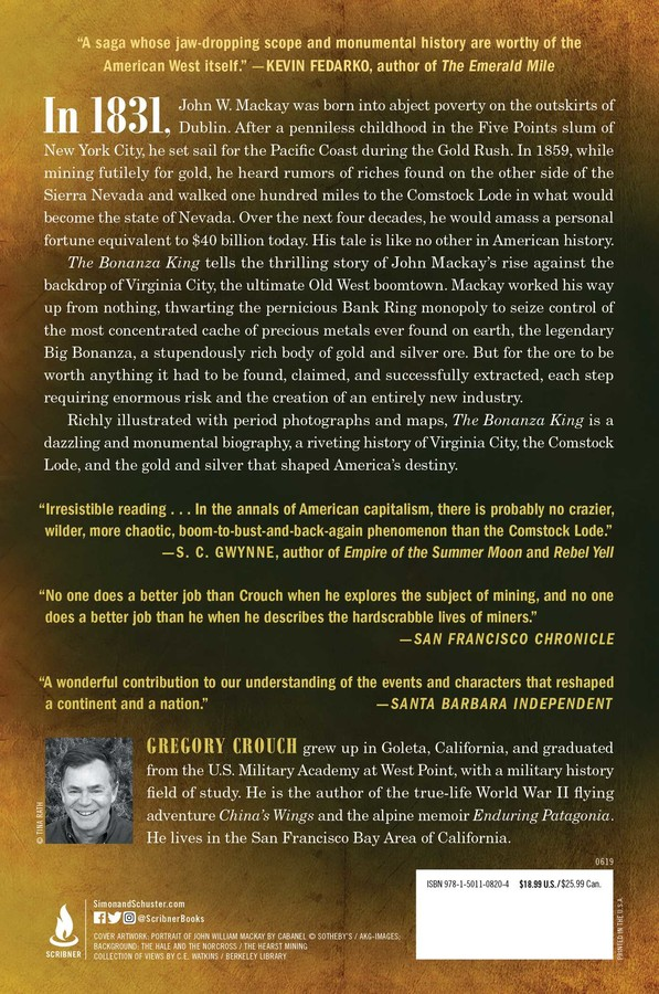 The Bonanza King | Book by Gregory Crouch | Official Publisher Page