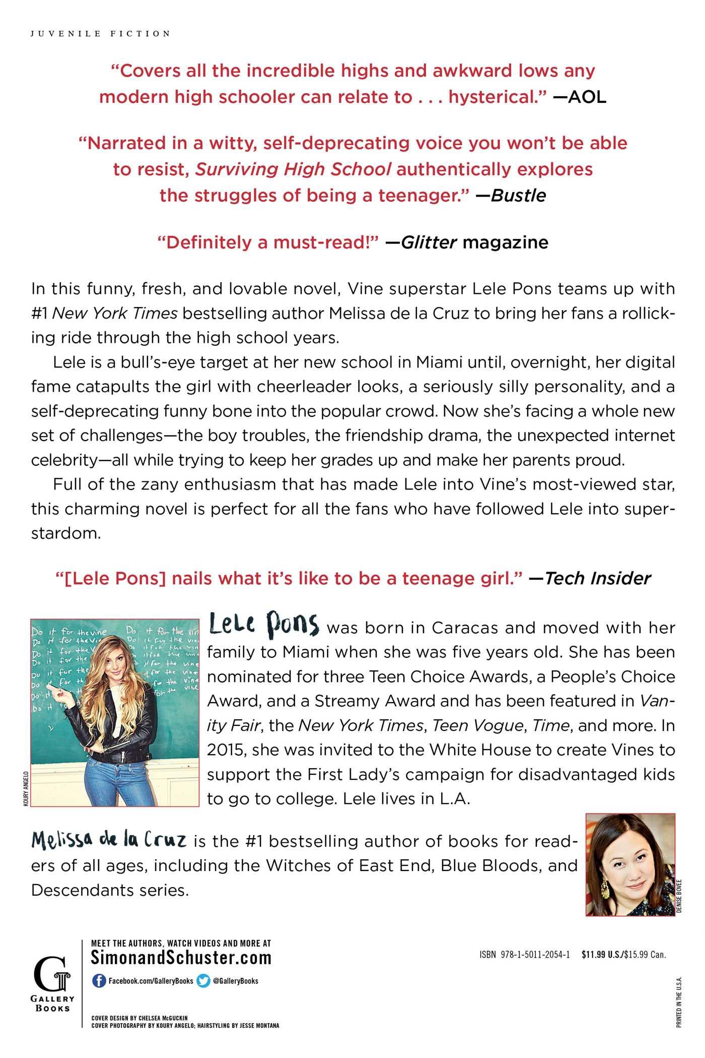 Surviving High School Book By Lele Pons Melissa De La Cruz