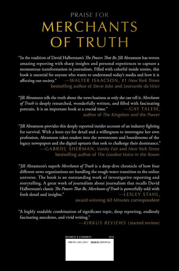 Merchants of Truth | Book by Jill Abramson | Official