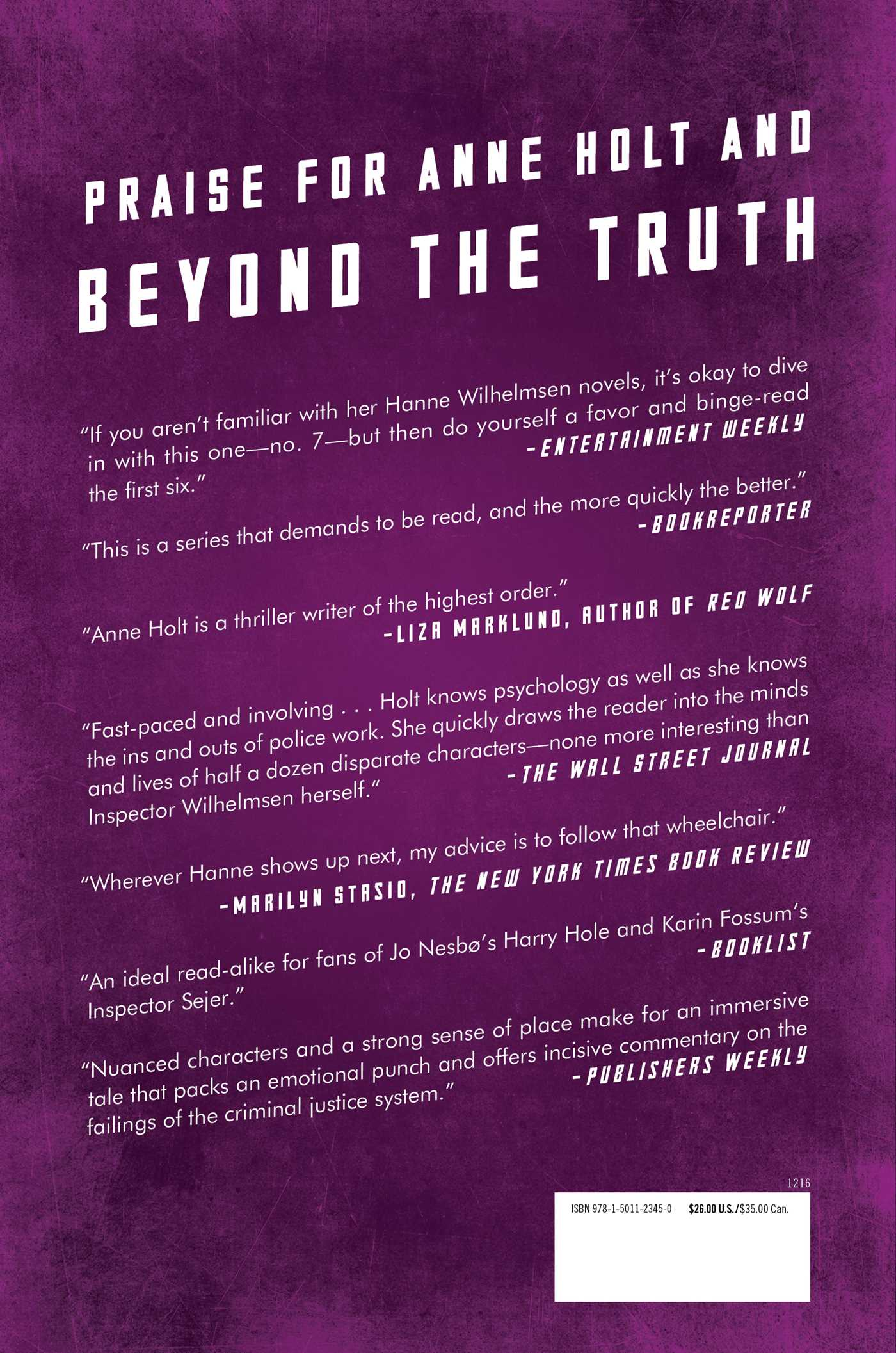 Beyond the truth 9781501123450 hr back
