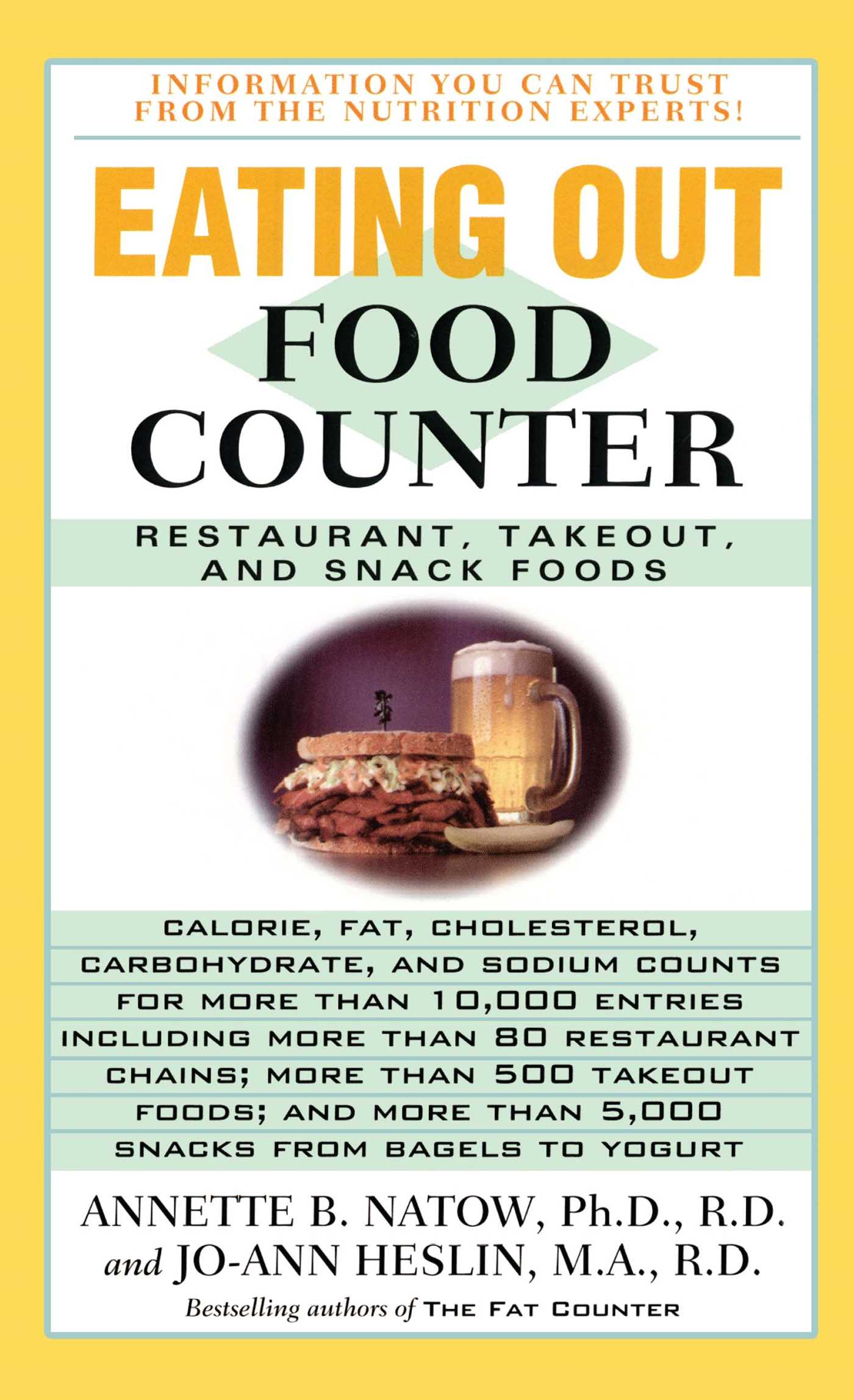 eating out food counter book by annette b natow official