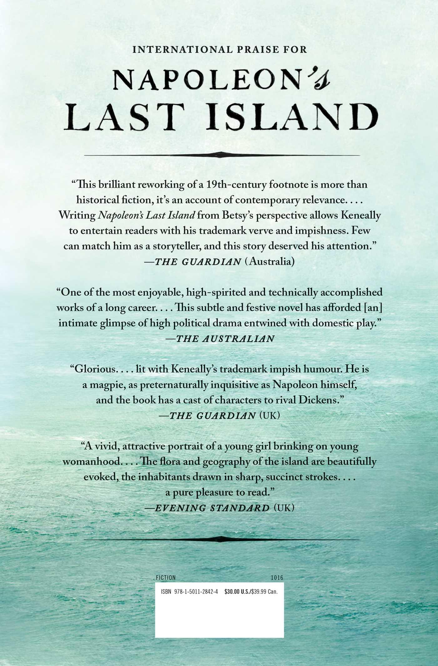 Napoleons last island 9781501128424 hr back