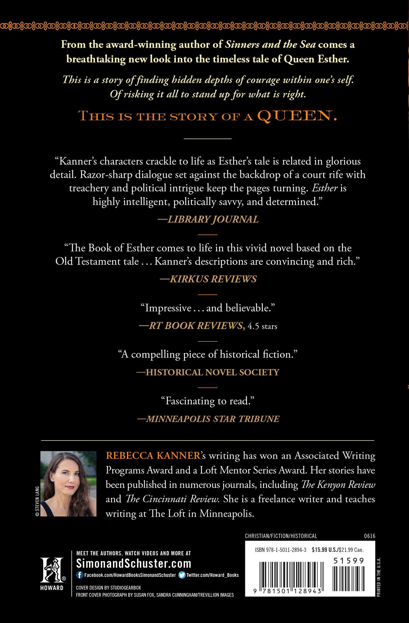 Esther | Book by Rebecca Kanner | Official Publisher Page ...