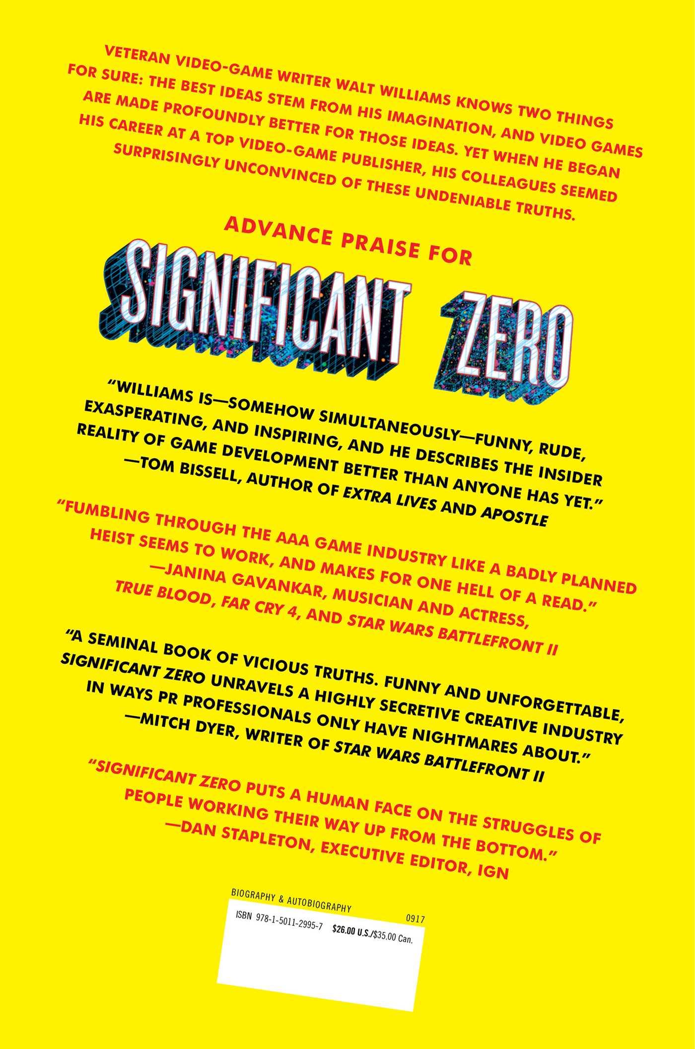 Significant zero 9781501129957 hr back