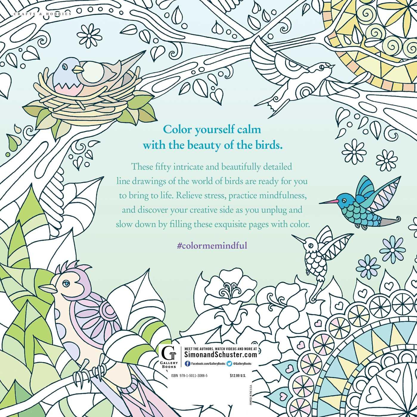Color me mindful birds 9781501130885 hr back