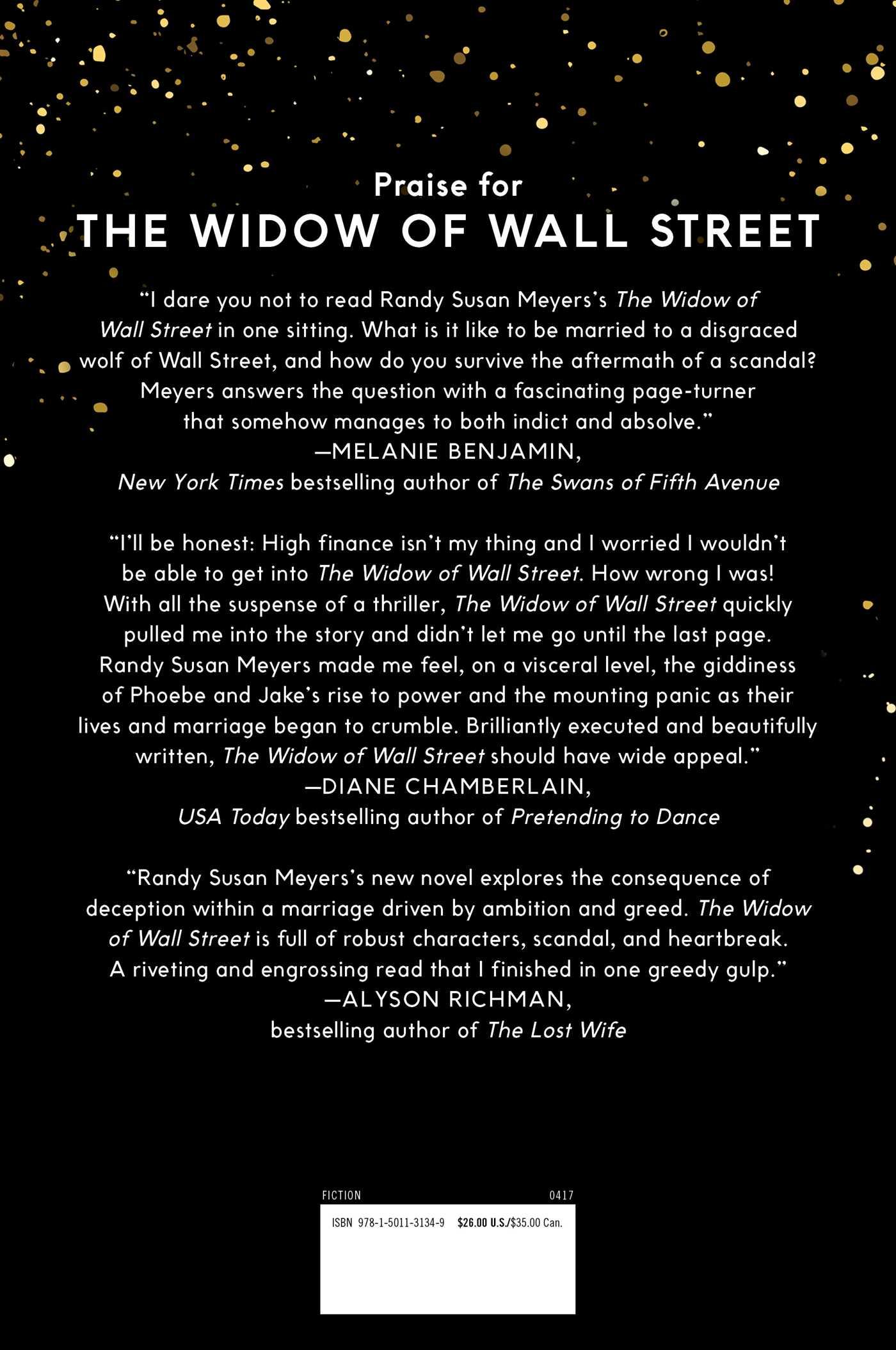 The widow of wall street 9781501131349 hr back