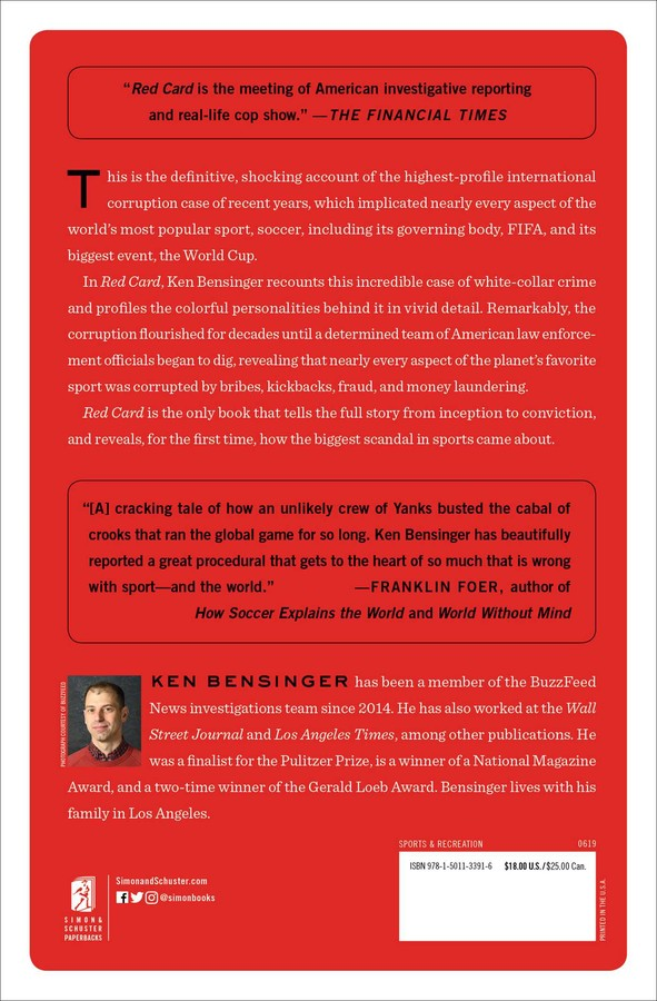 Red Card | Book by Ken Bensinger | Official Publisher Page | Simon