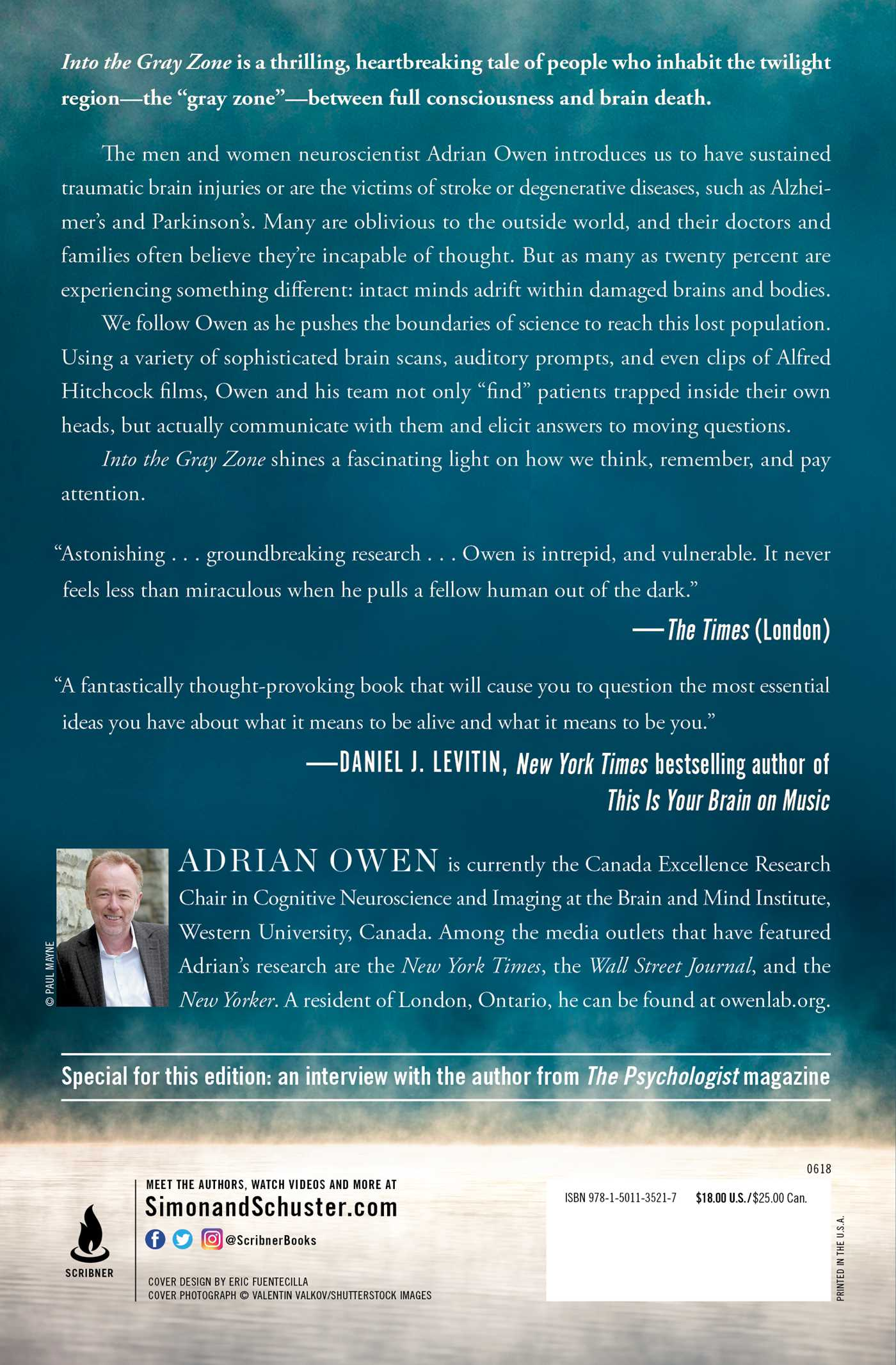 Into the Gray Zone | Book by Adrian Owen | Official Publisher Page