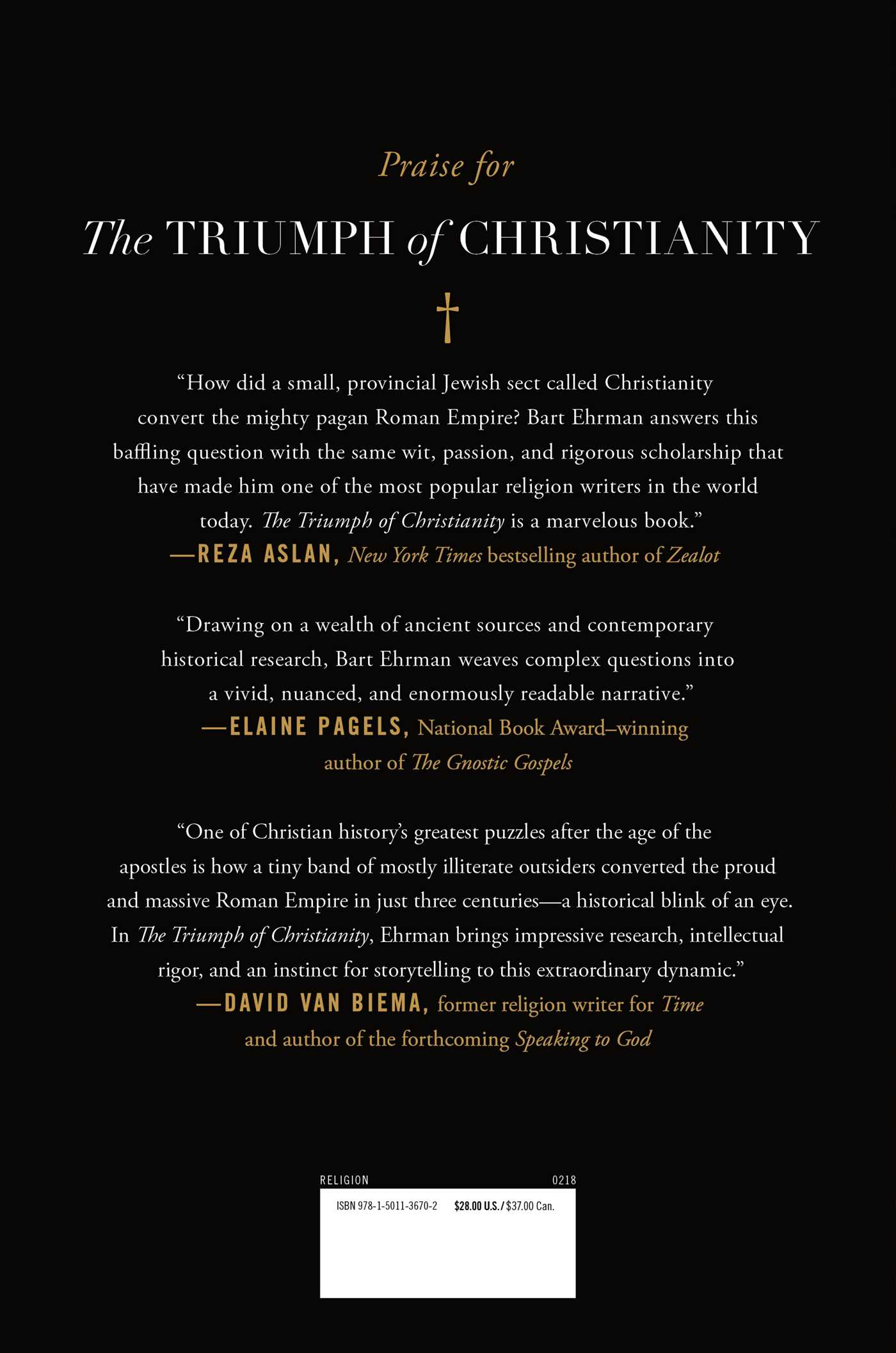 The triumph of christianity 9781501136702 hr back