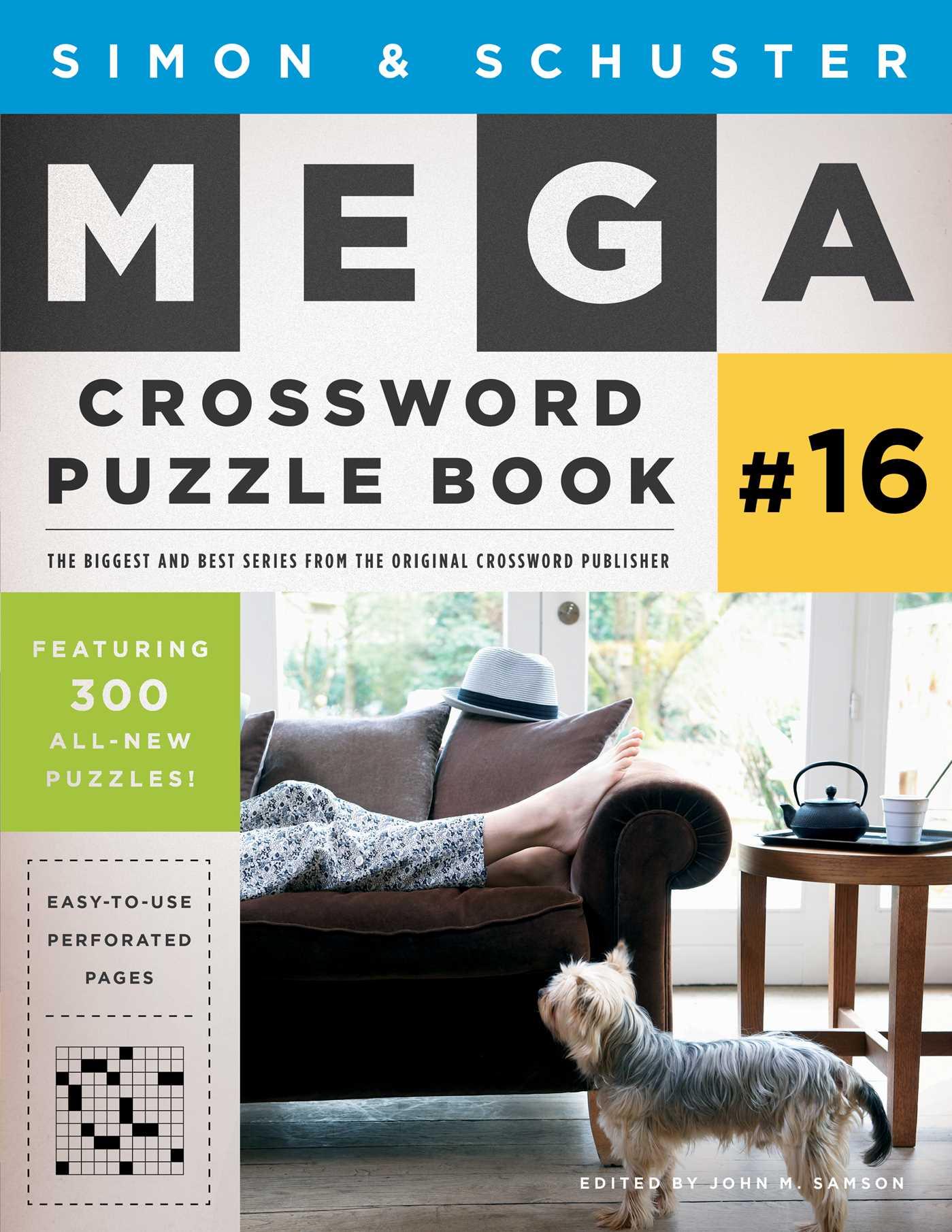 Simon schuster mega crossword puzzle book 16 9781501138010 hr