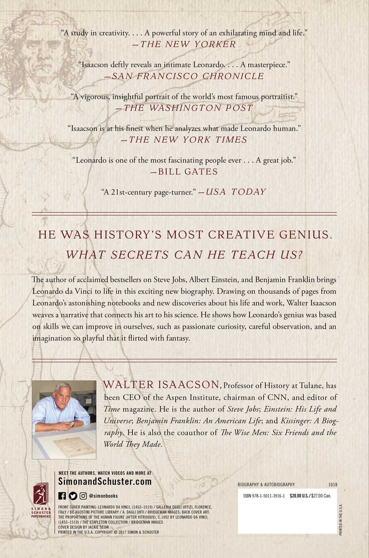 Leonardo Da Vinci Book By Walter Isaacson Official Publisher