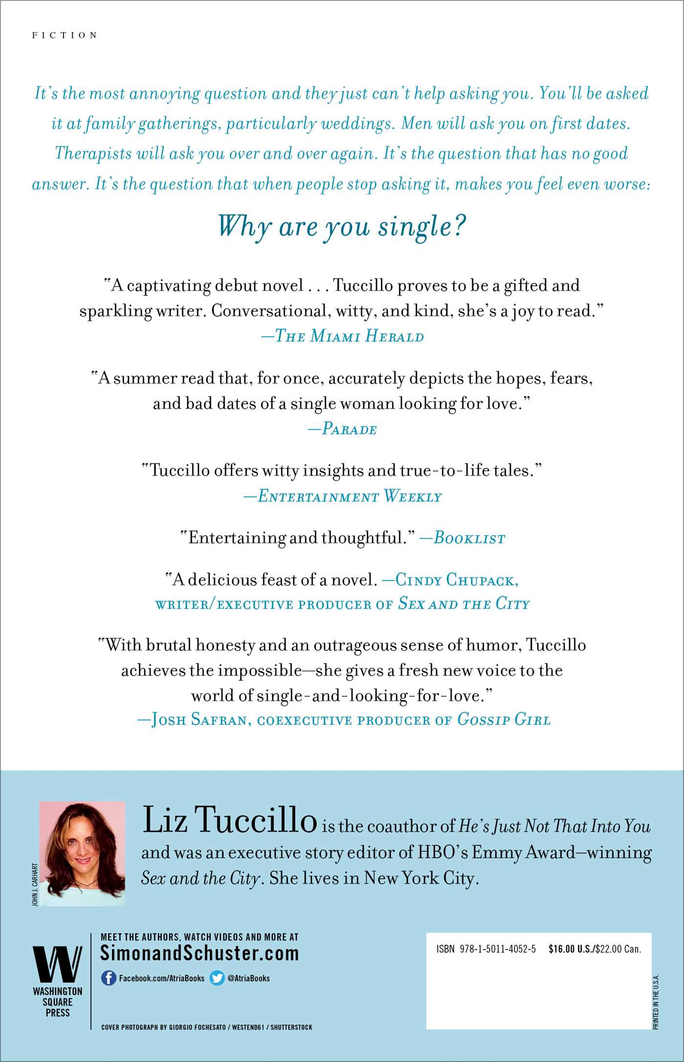 How to be single book by liz tuccillo official publisher page how to be single 9781501140525 hr back ccuart Gallery