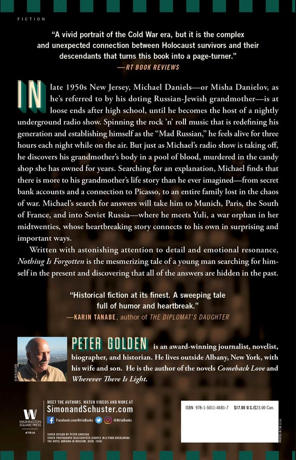Nothing Is Forgotten Book By Peter Golden Official Publisher