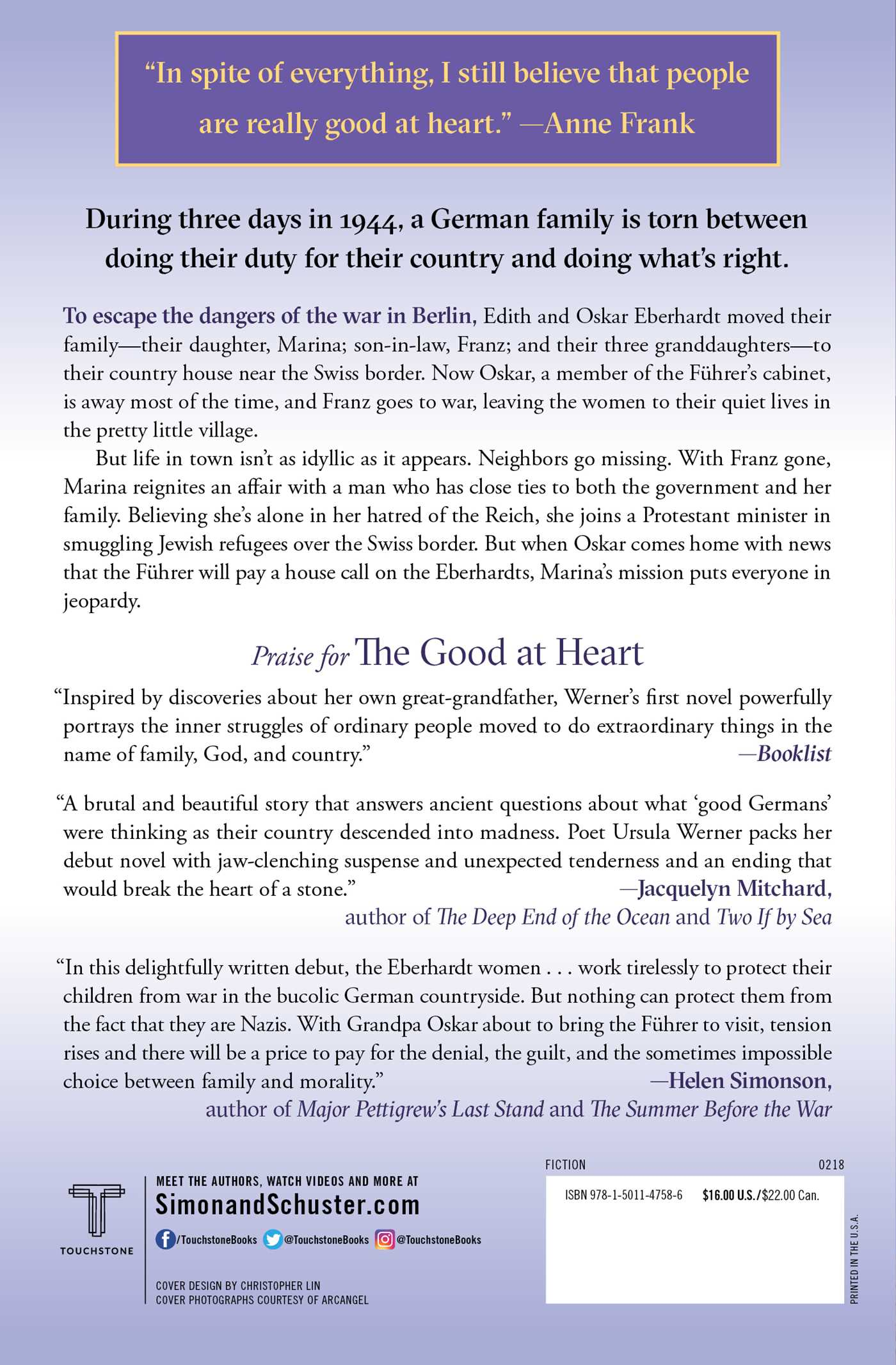 The good at heart 9781501147586 hr back