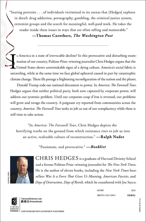 America: The Farewell Tour | Book by Chris Hedges | Official