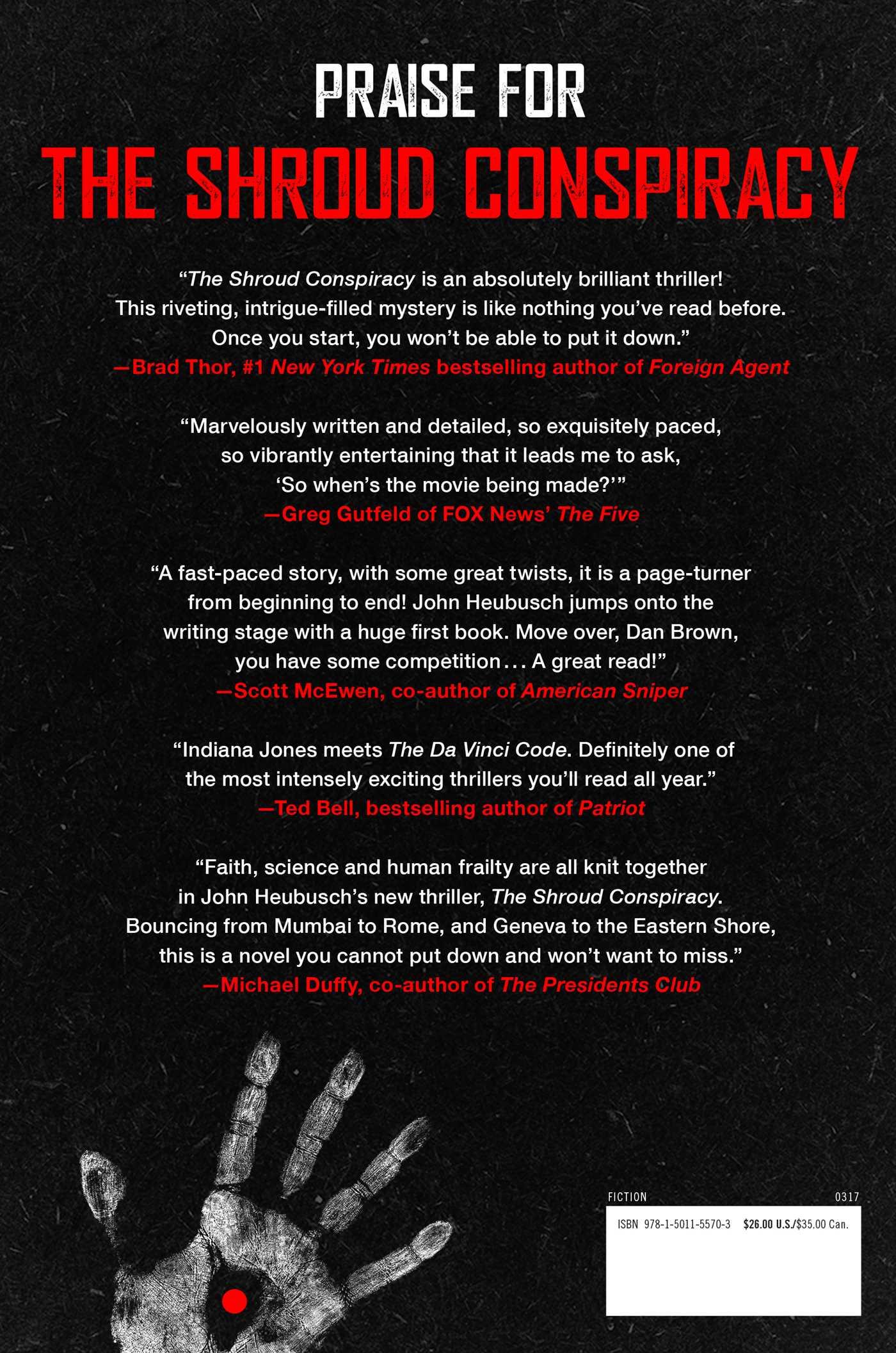 The shroud conspiracy 9781501155703 hr back