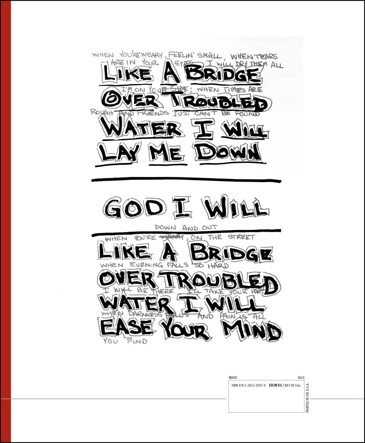 Lyrics 1964 2016 9781501155970 hr back