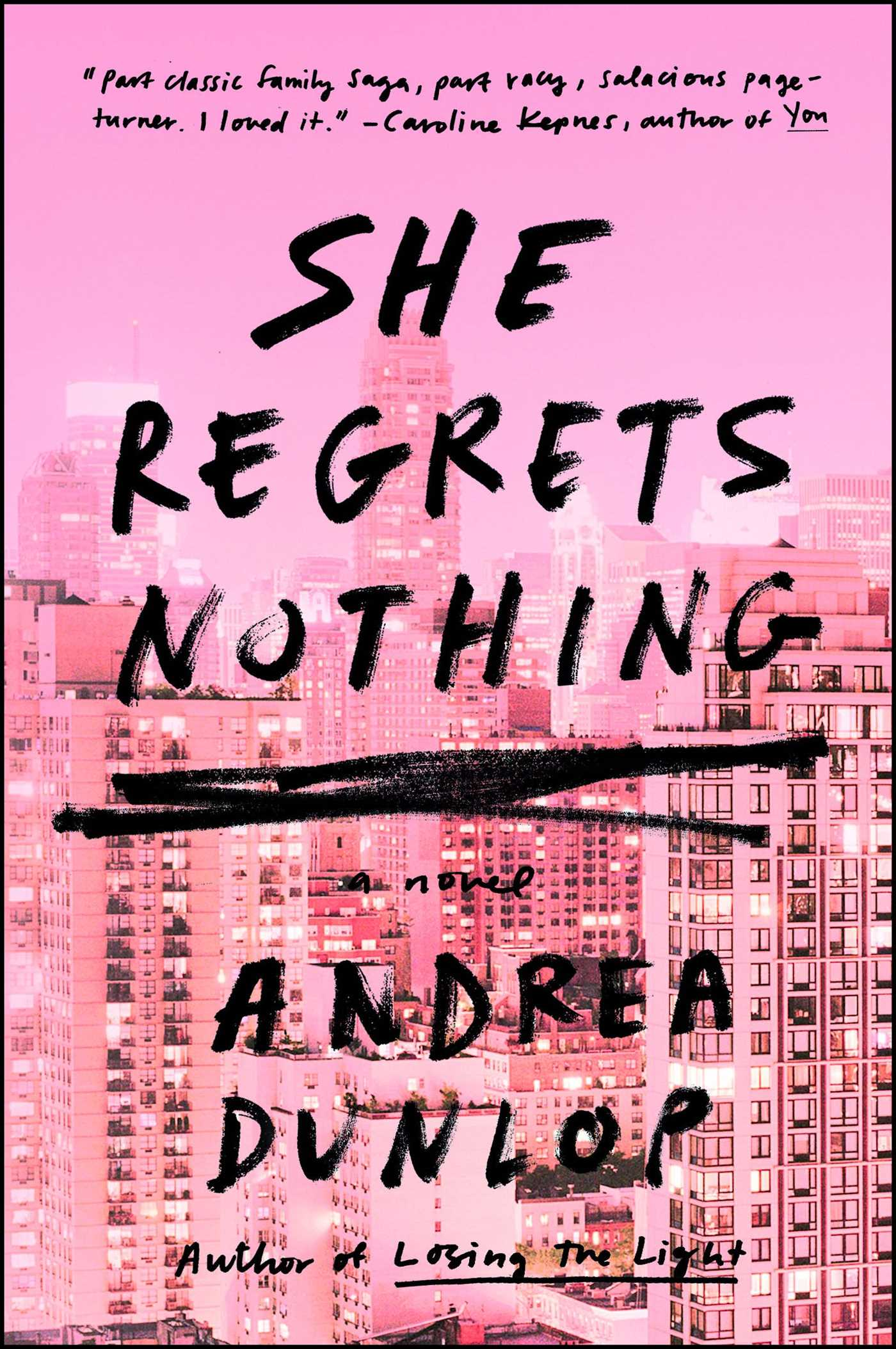 She regrets nothing 9781501155994 hr