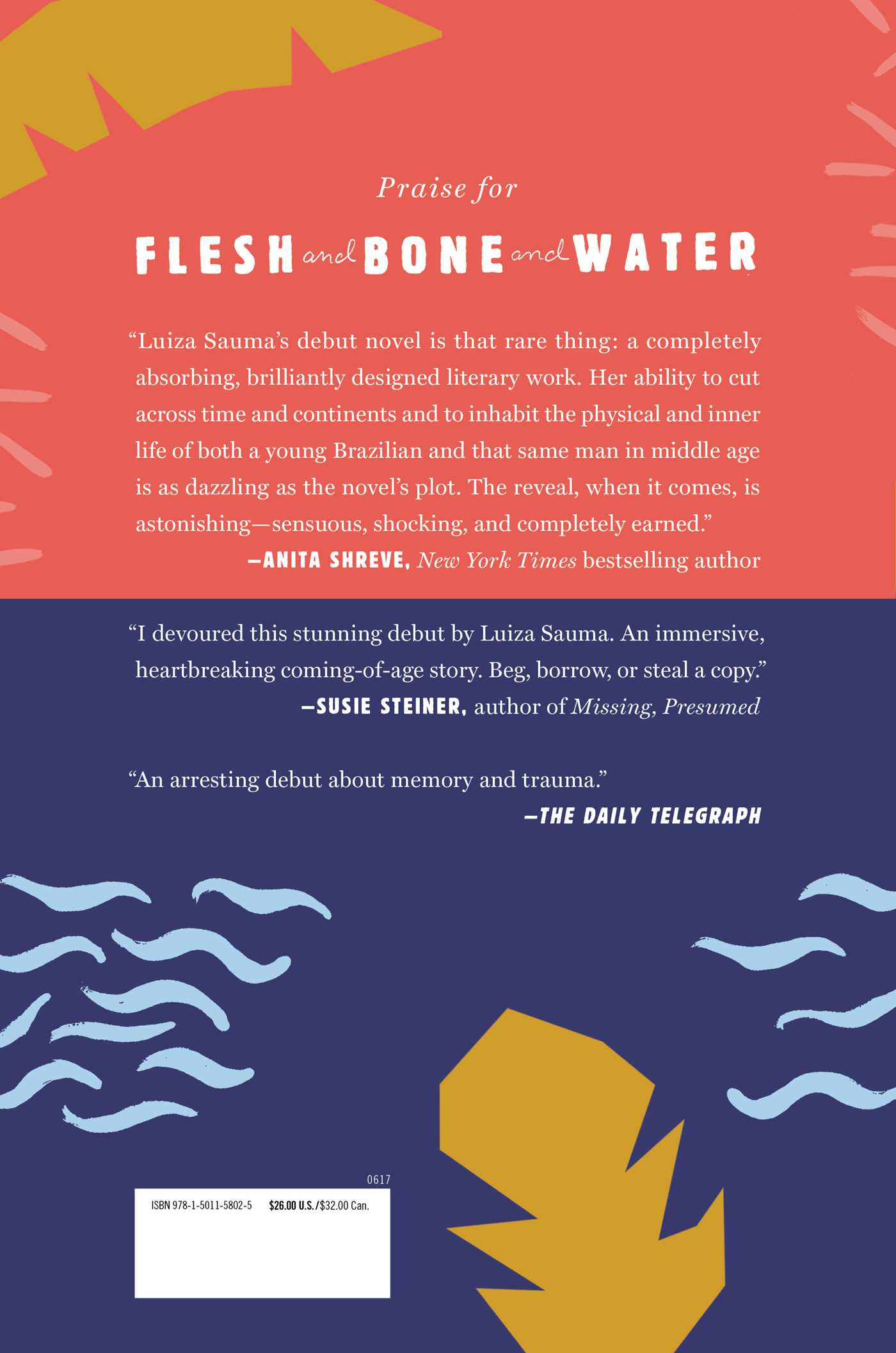 Flesh and bone and water 9781501158025 hr back