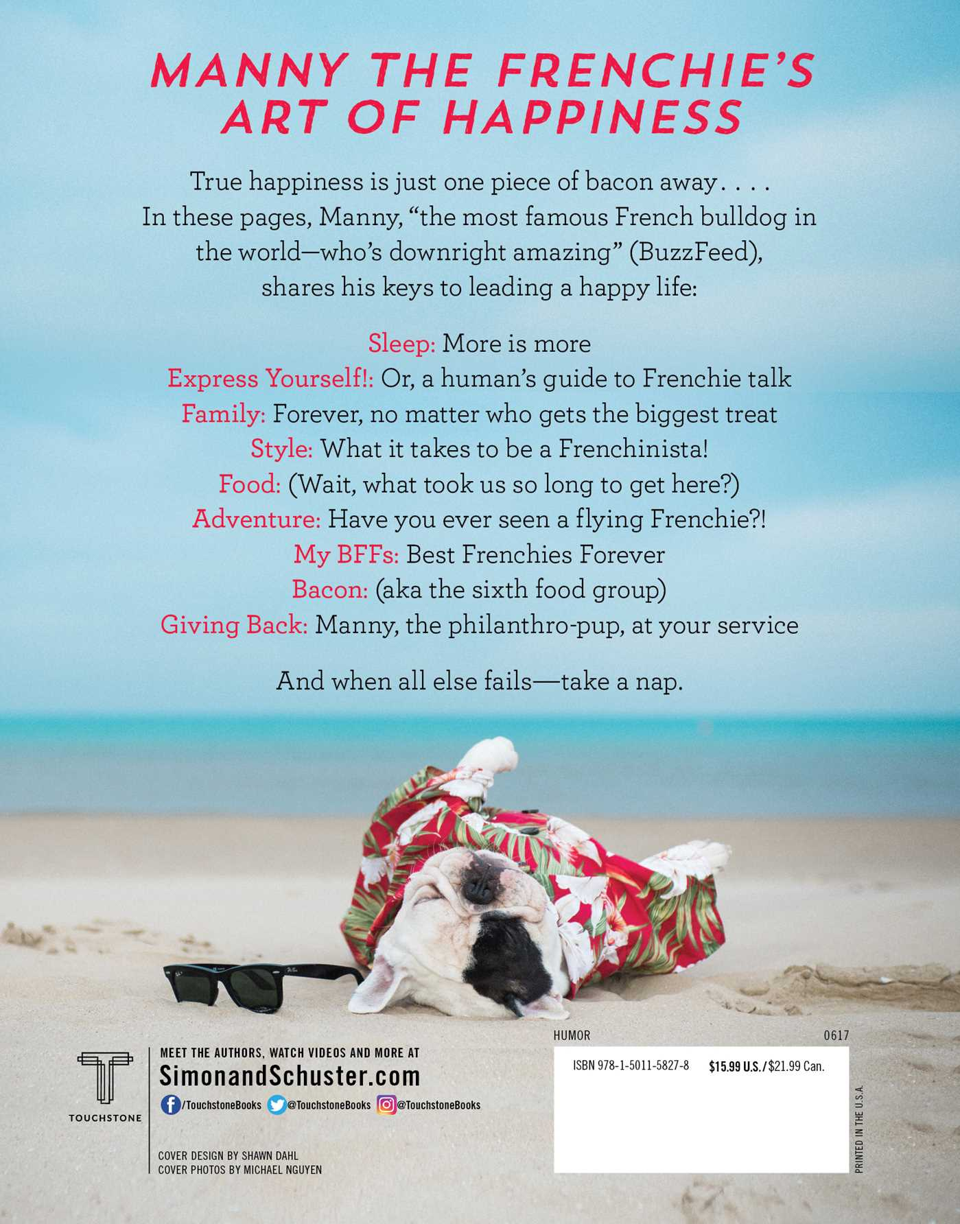 Manny the frenchies art of happiness 9781501158278 hr back
