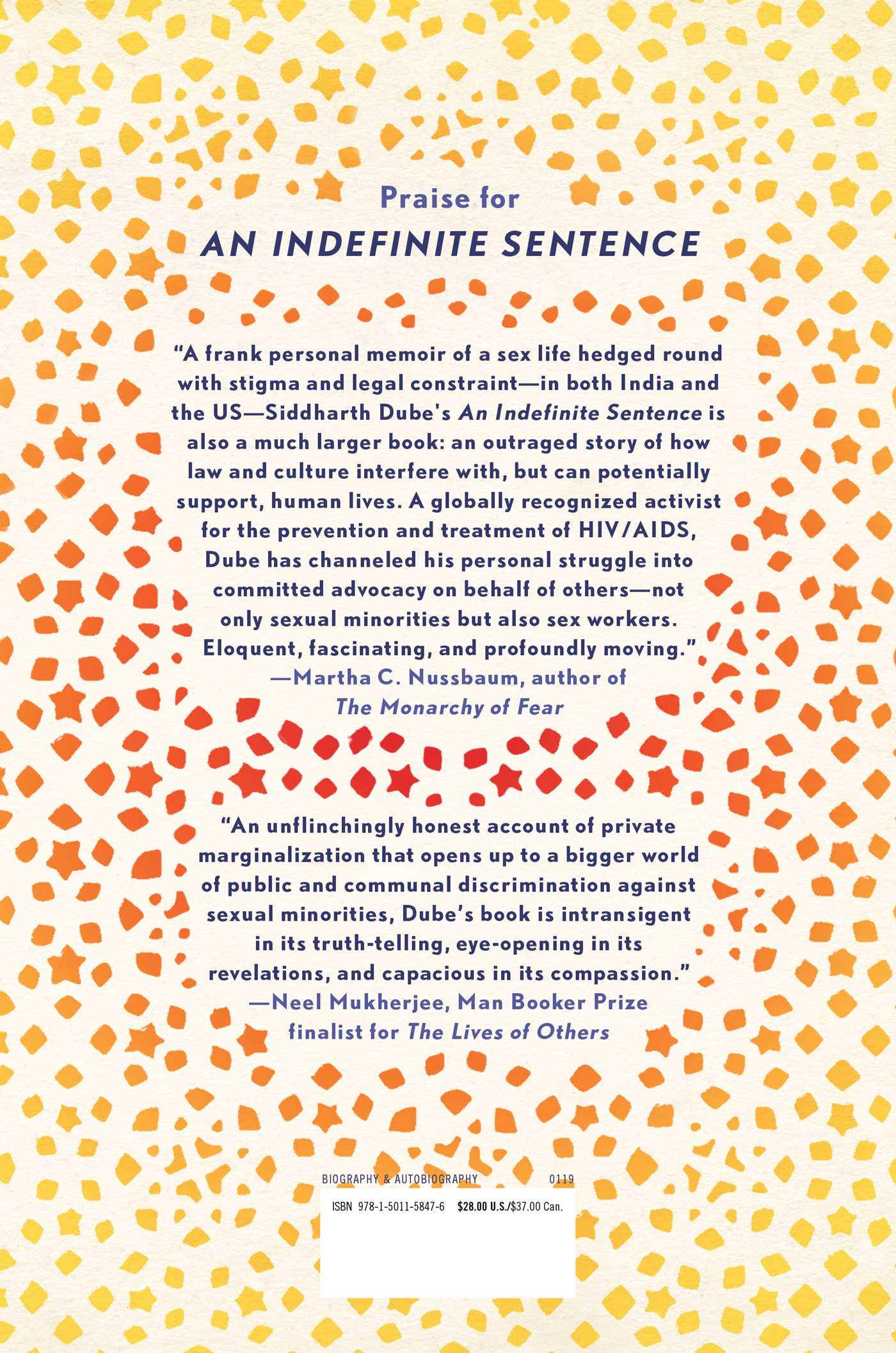 An indefinite sentence 9781501158476 hr back