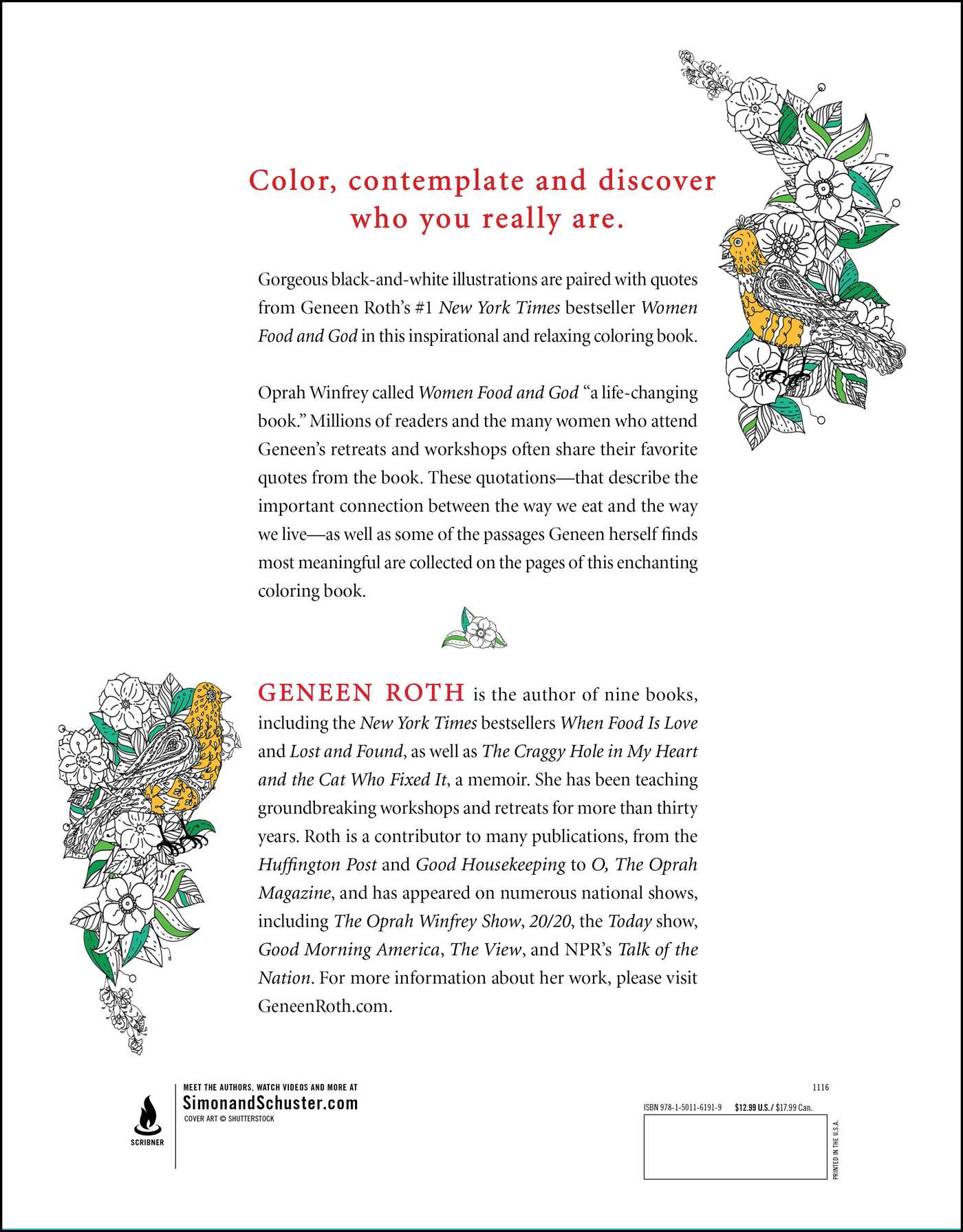 Women Food And God Coloring Book 9781501161919 Hr Back