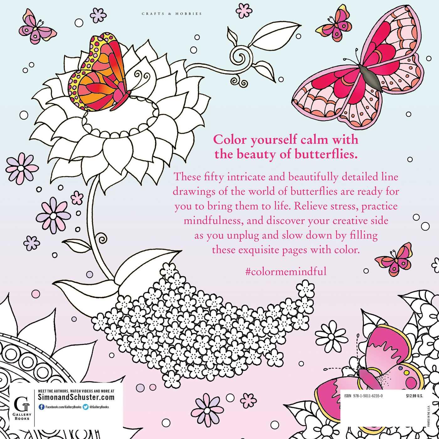 Color me mindful butterflies 9781501162350 hr back