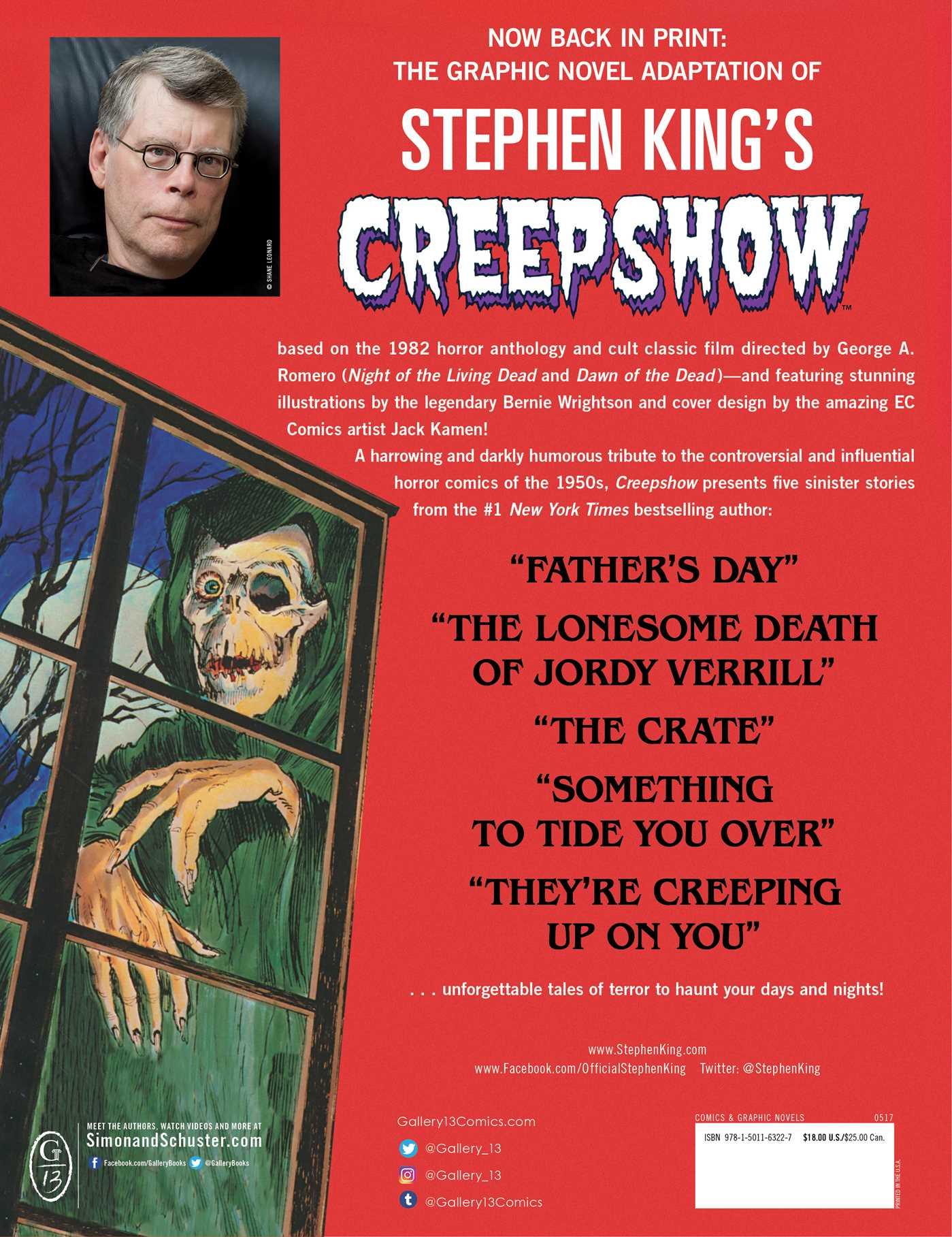 Creepshow 9781501163227 hr back