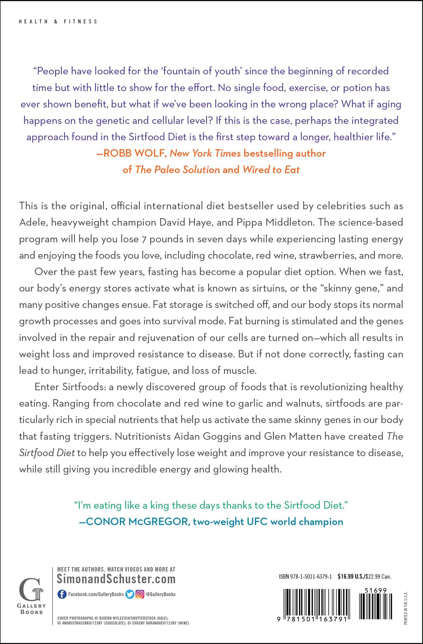 The sirtfood diet book by aidan goggins glen matten official the sirtfood diet 9781501163791 hr the sirtfood diet 9781501163791 hr back forumfinder Image collections