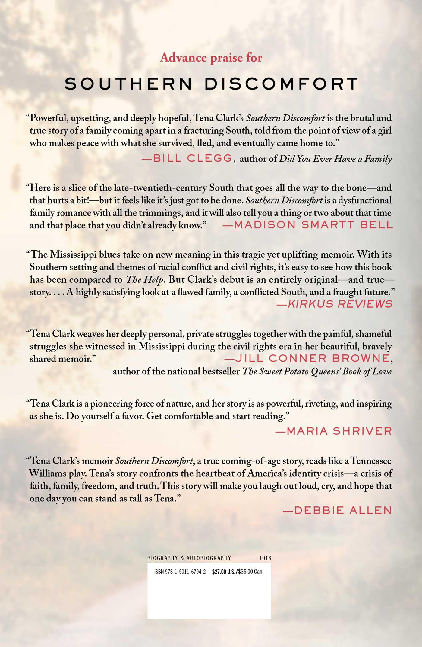 Southern discomfort book by tena clark official publisher page southern discomfort 9781501167942 hr southern discomfort 9781501167942 hr back solutioingenieria Choice Image
