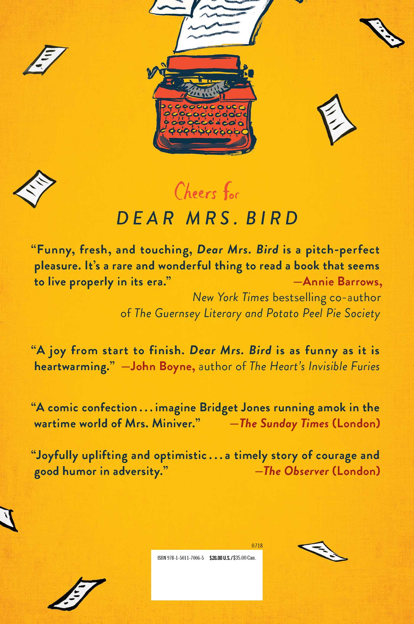 Dear mrs bird 9781501170065 hr back