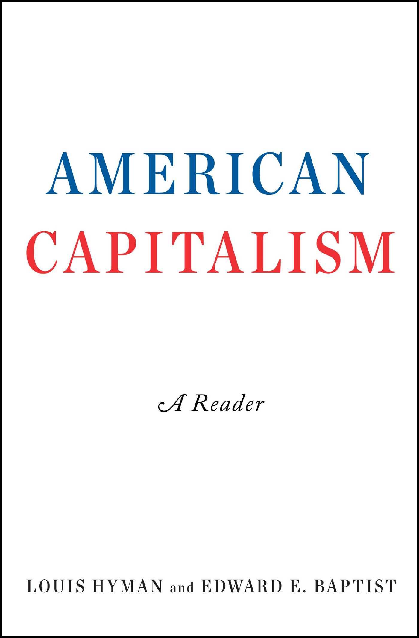 American capitalism 9781501171307 hr