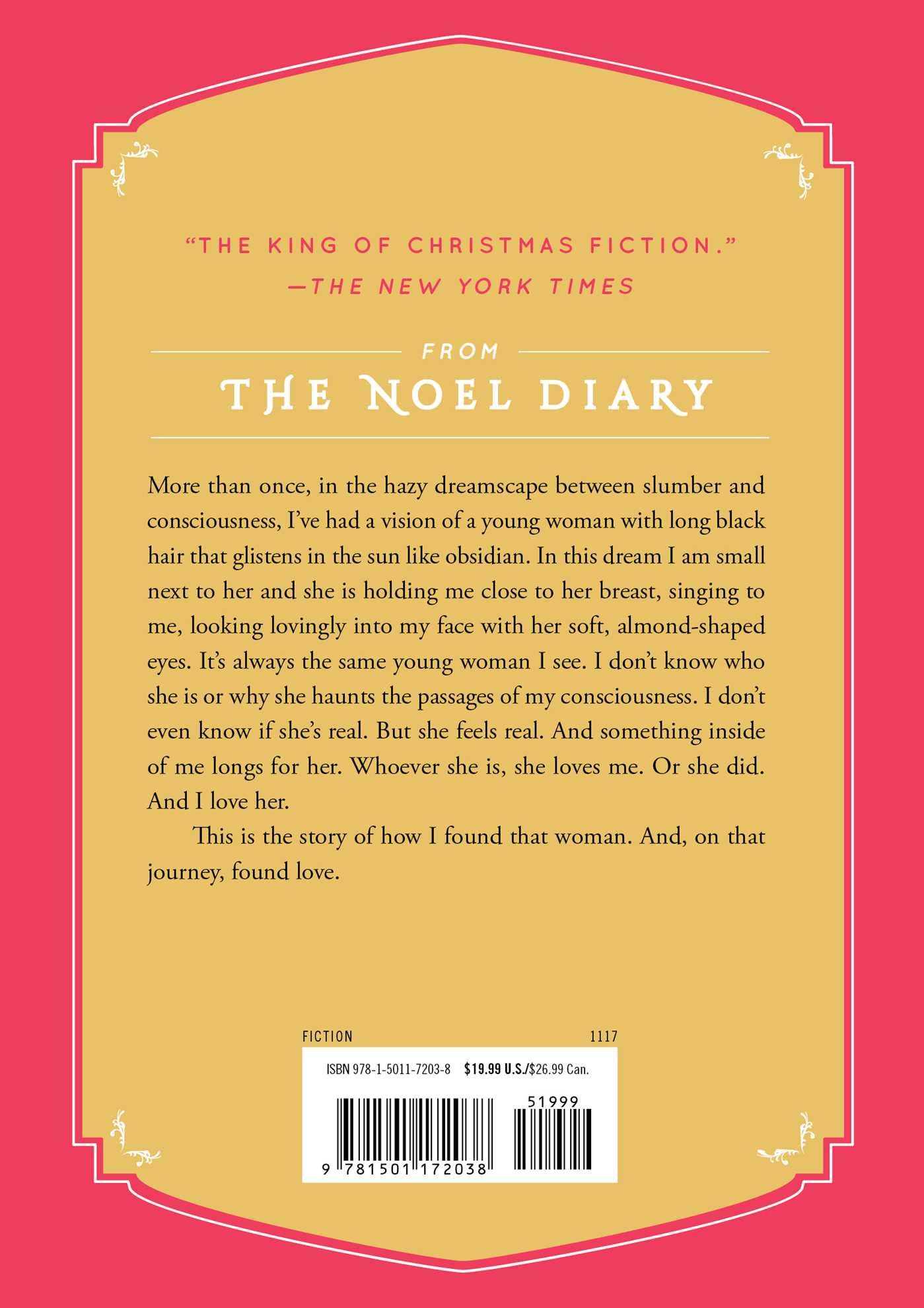 The noel diary 9781501172038 hr back
