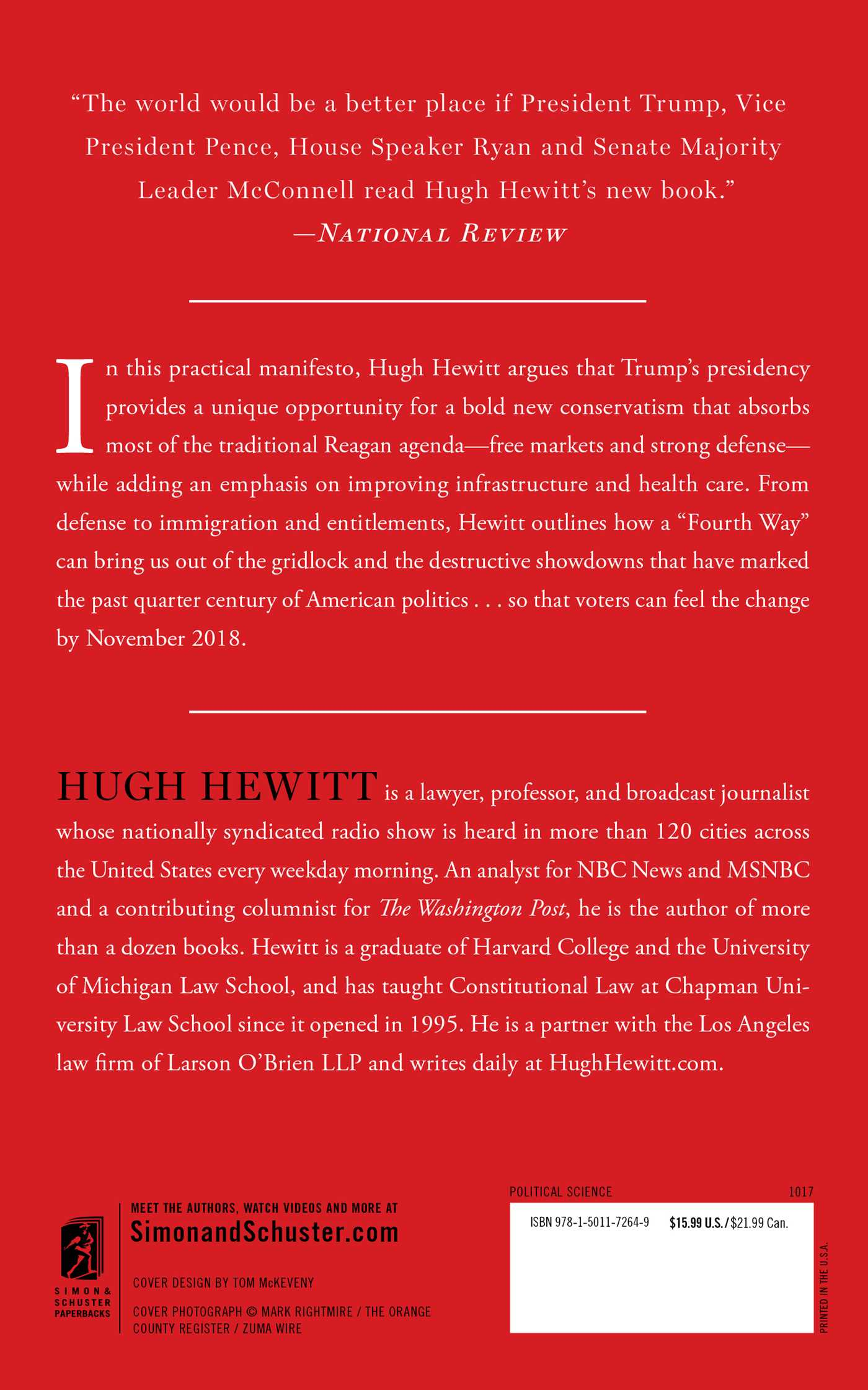 The hugh hewitts little red book 9781501172649 hr back