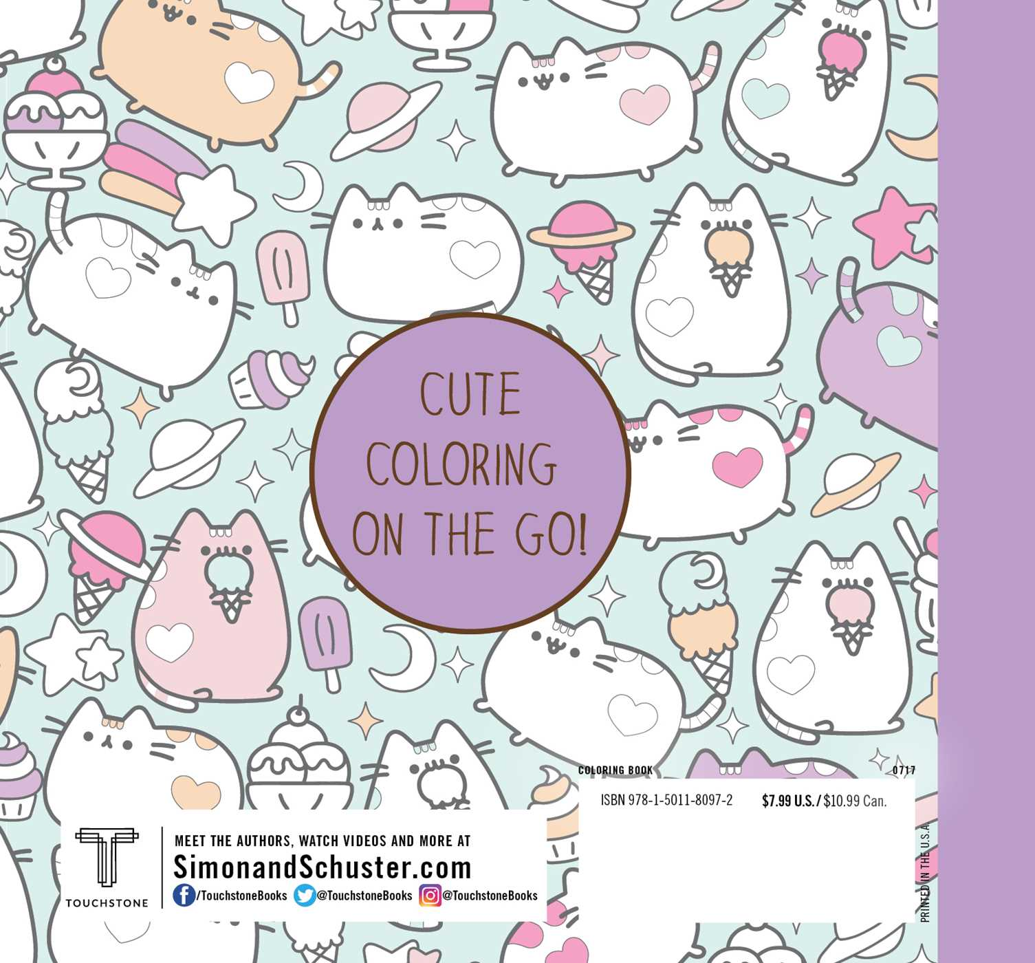 Mini Pusheen Coloring Book Book by Claire Belton Official