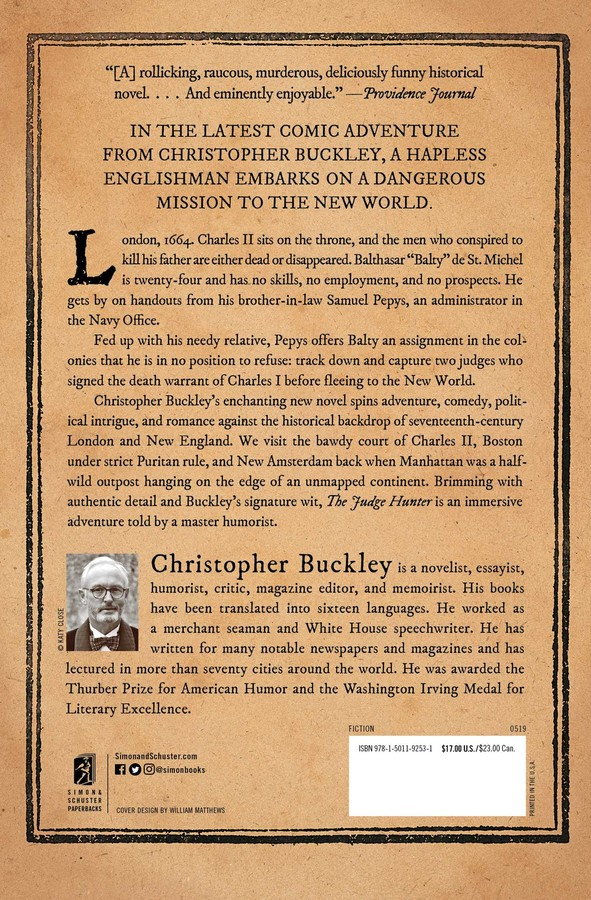 The Judge Hunter | Book by Christopher Buckley | Official