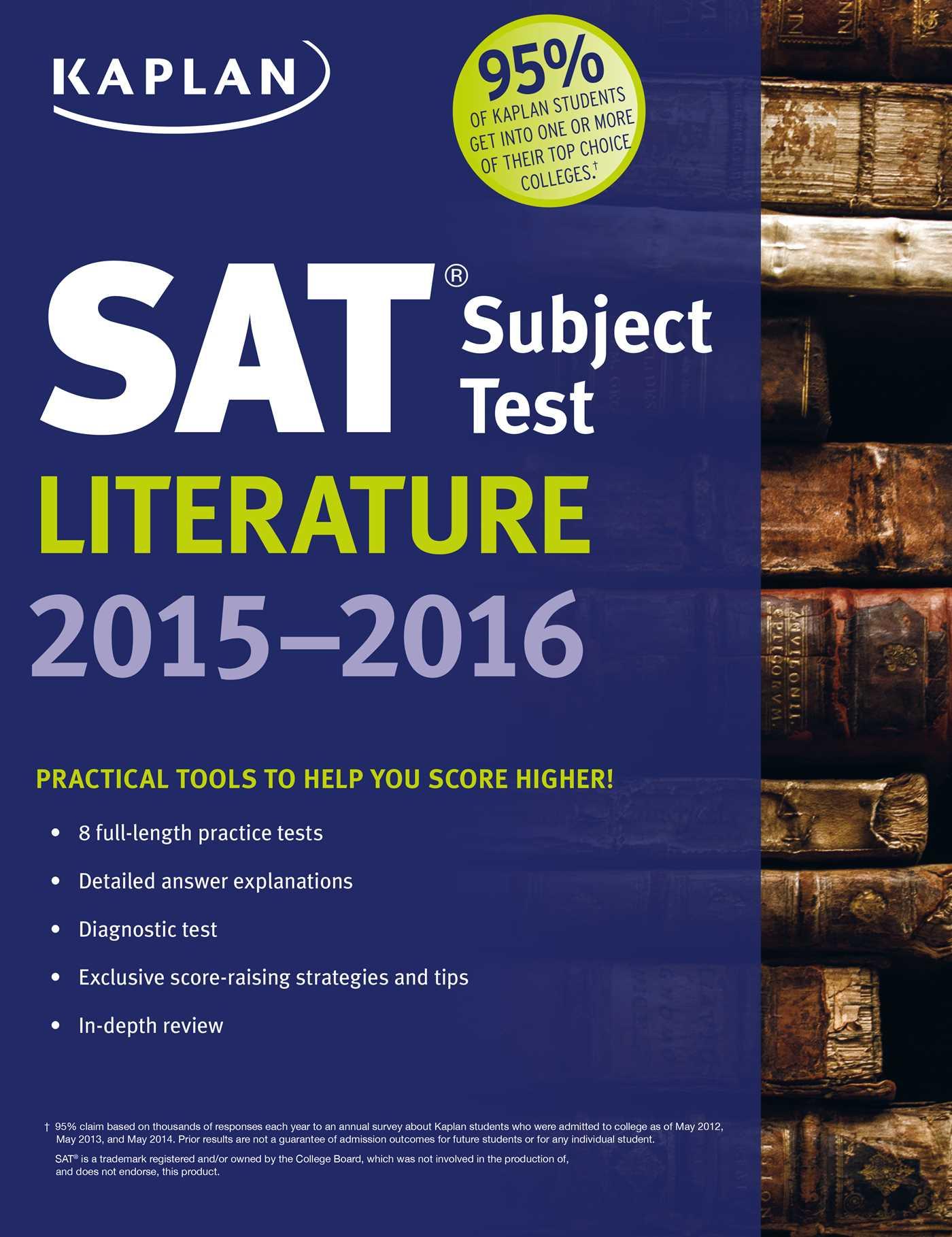 Kaplan SAT Subject Test Literature 2015-2016 eBook by Kaplan Test