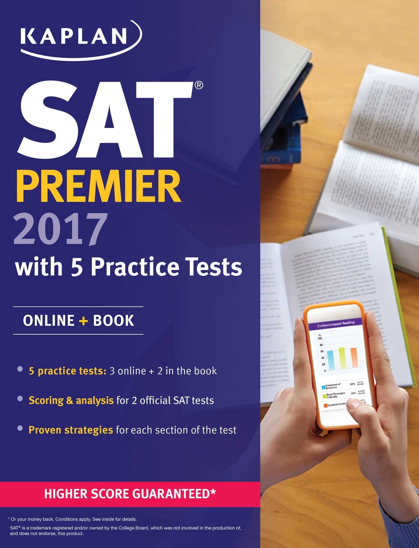 SAT Premier 2017 with 5 Practice Tests | Book by Kaplan