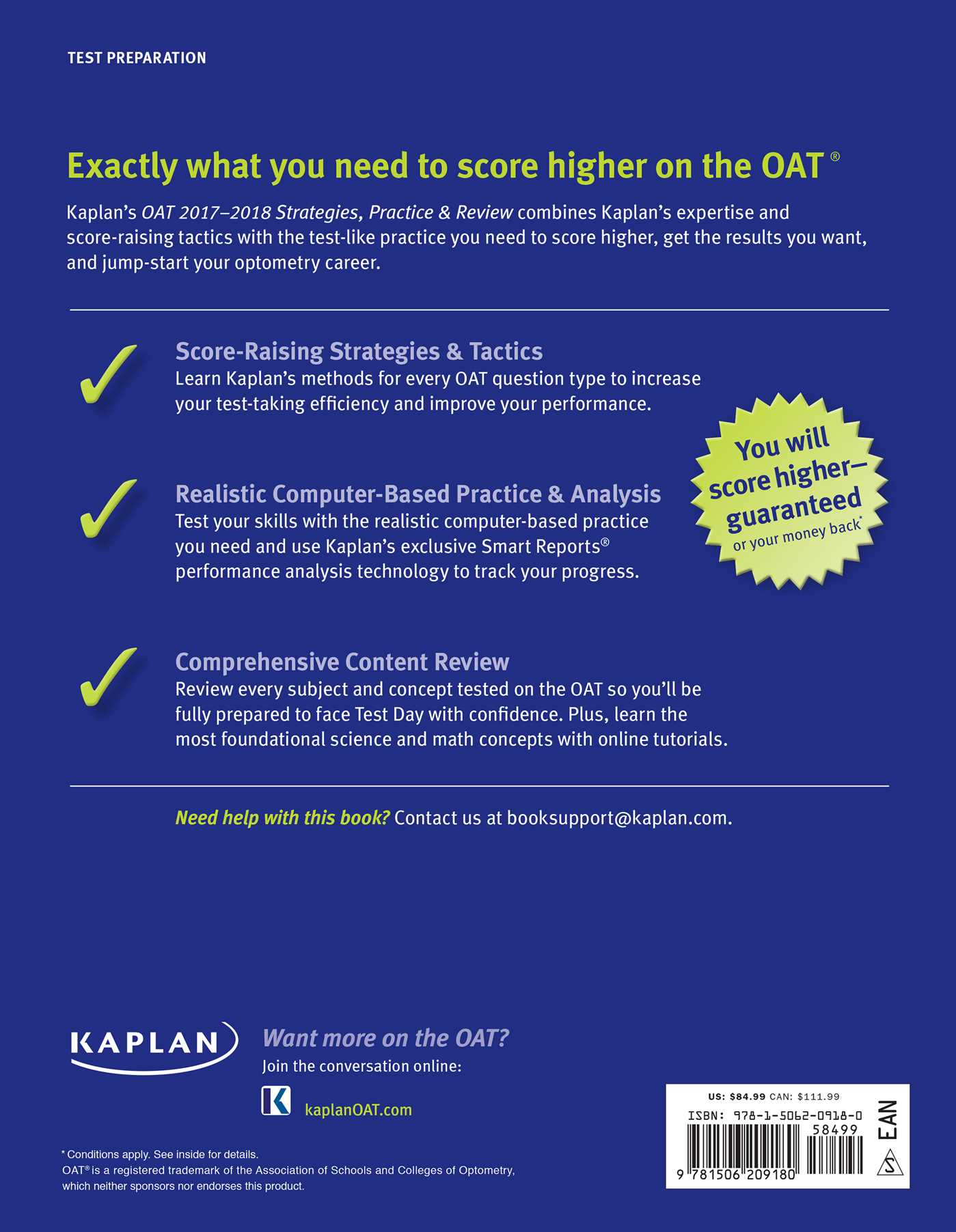 Oat 2017 2018 strategies practice review with 2 practice tests oat 2017 2018 strategies practice review with 2 practice tests 9781506209180 hr back malvernweather Gallery