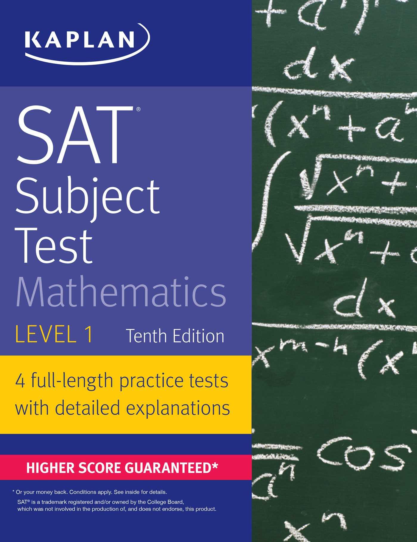 Worksheets Sat Math Prep Worksheets sat subject test mathematics level 1 book by kaplan prep 9781506209227 hr