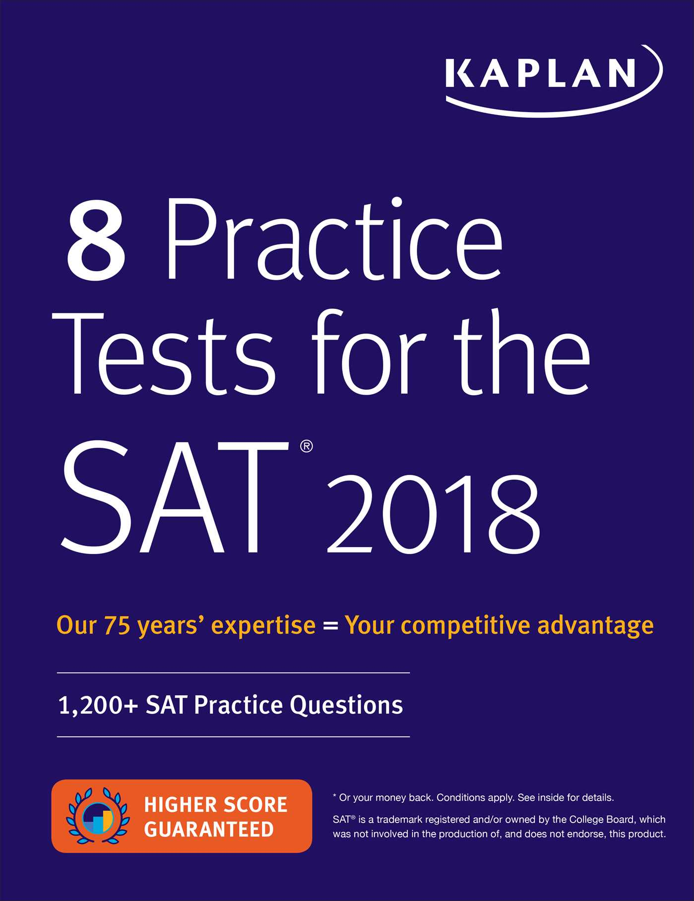 8 Practice Tests for the SAT 2018 | Book by Kaplan Test Prep ...