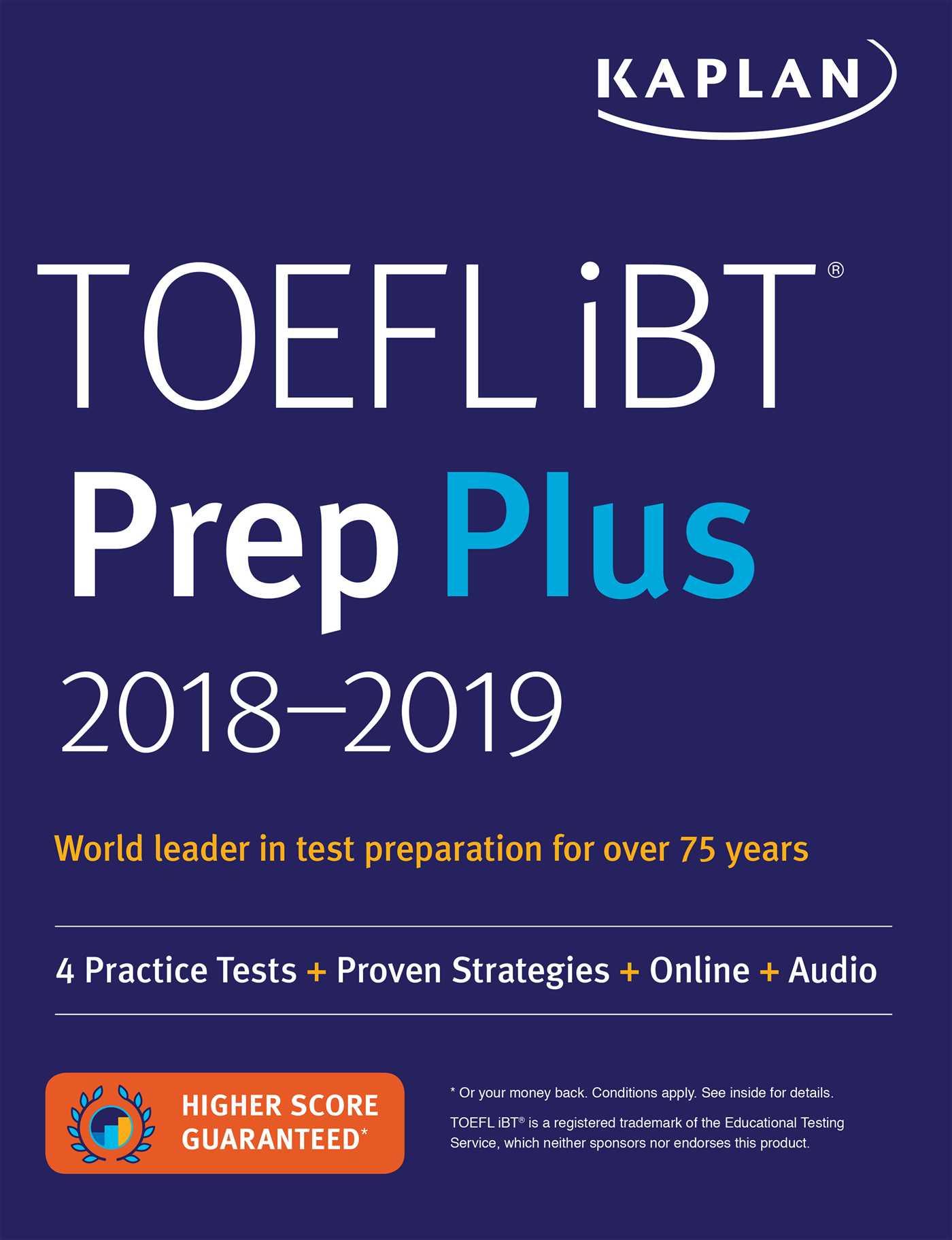 Book Cover Image (jpg): TOEFL iBT Prep Plus 2018-2019