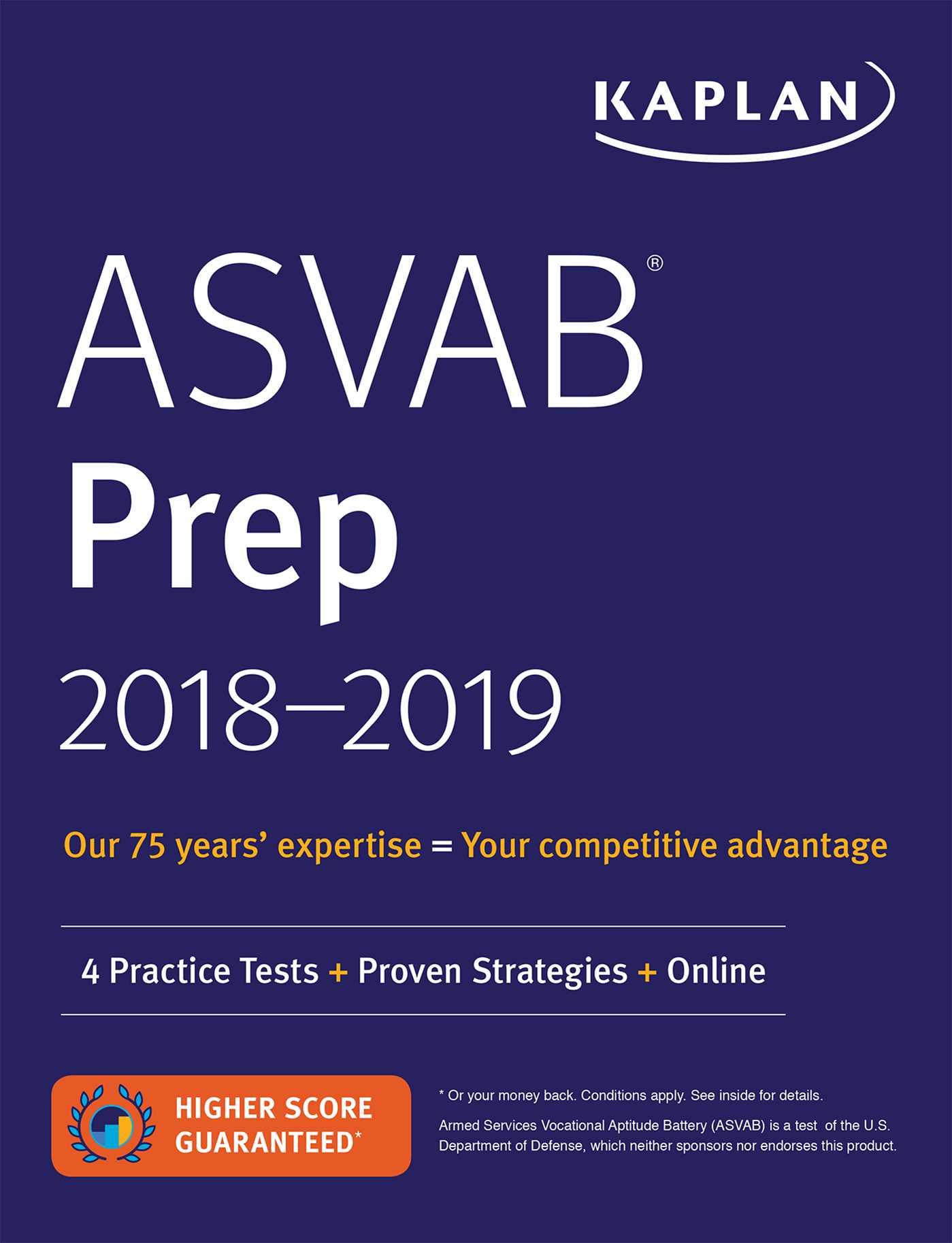 Asvab Prep 2018 2019 Book By Kaplan Test Prep Official
